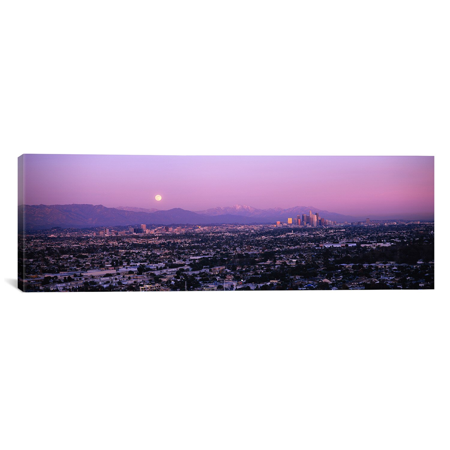 Panoramic Buildings in a City, Hollywood, San Gabriel Mountains, City ...