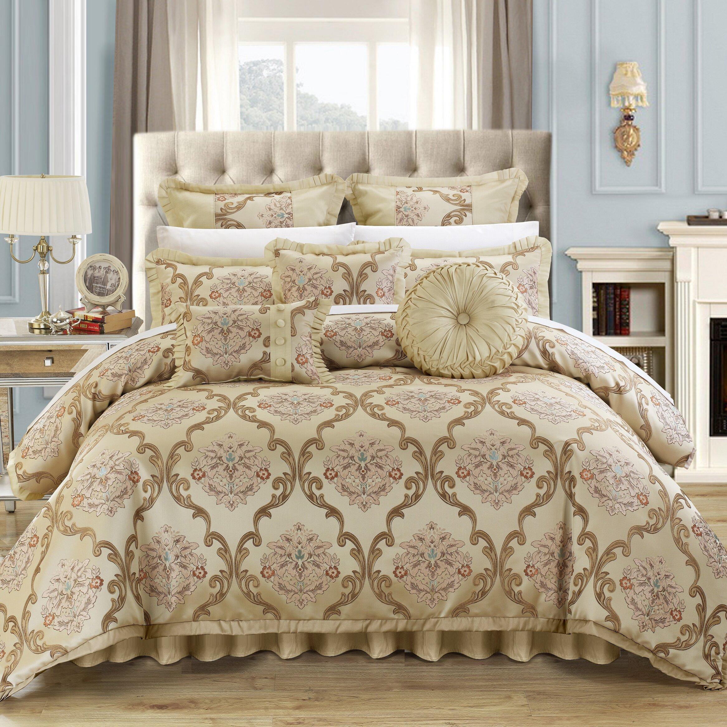 Wayfair Clearance: Chic Home Aubrey 9 Piece Comforter Set & Reviews