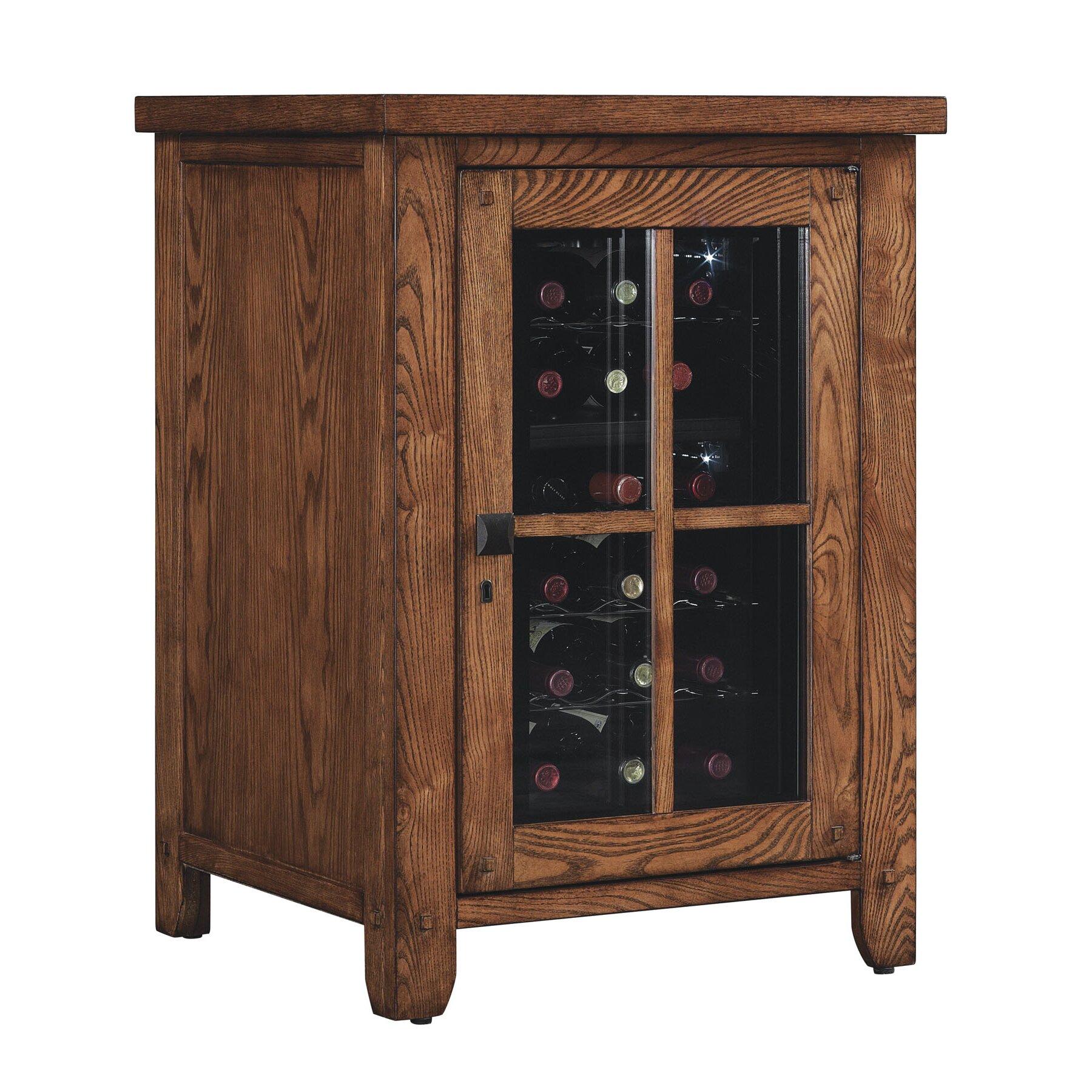 Dakota 18 Bottle Wine Cabinet Wayfair