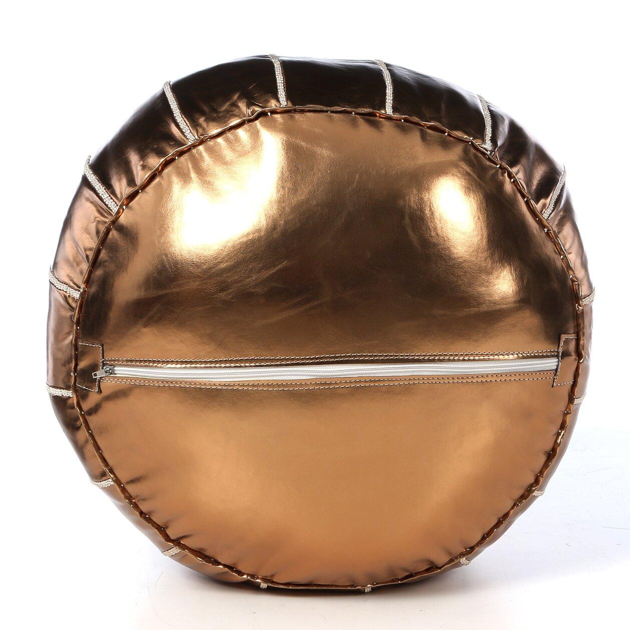 Ikram Design Metallic Moroccan Pouf Ottoman Amp Reviews