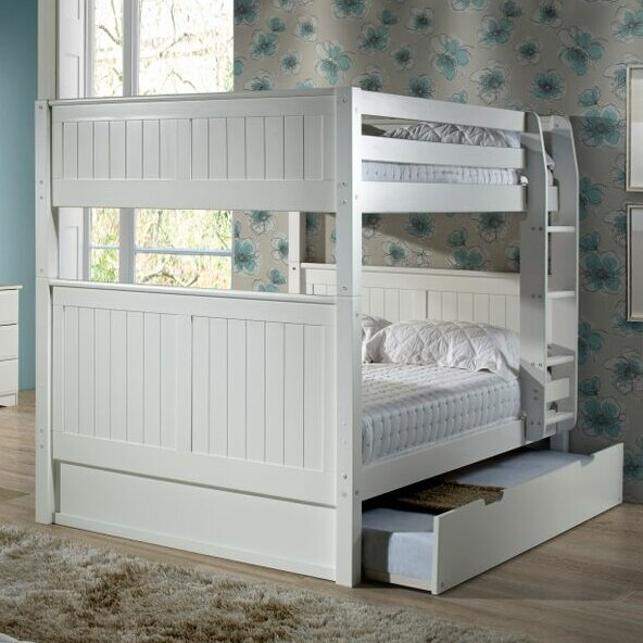 camaflexi low bunk bed with twin trundle 1