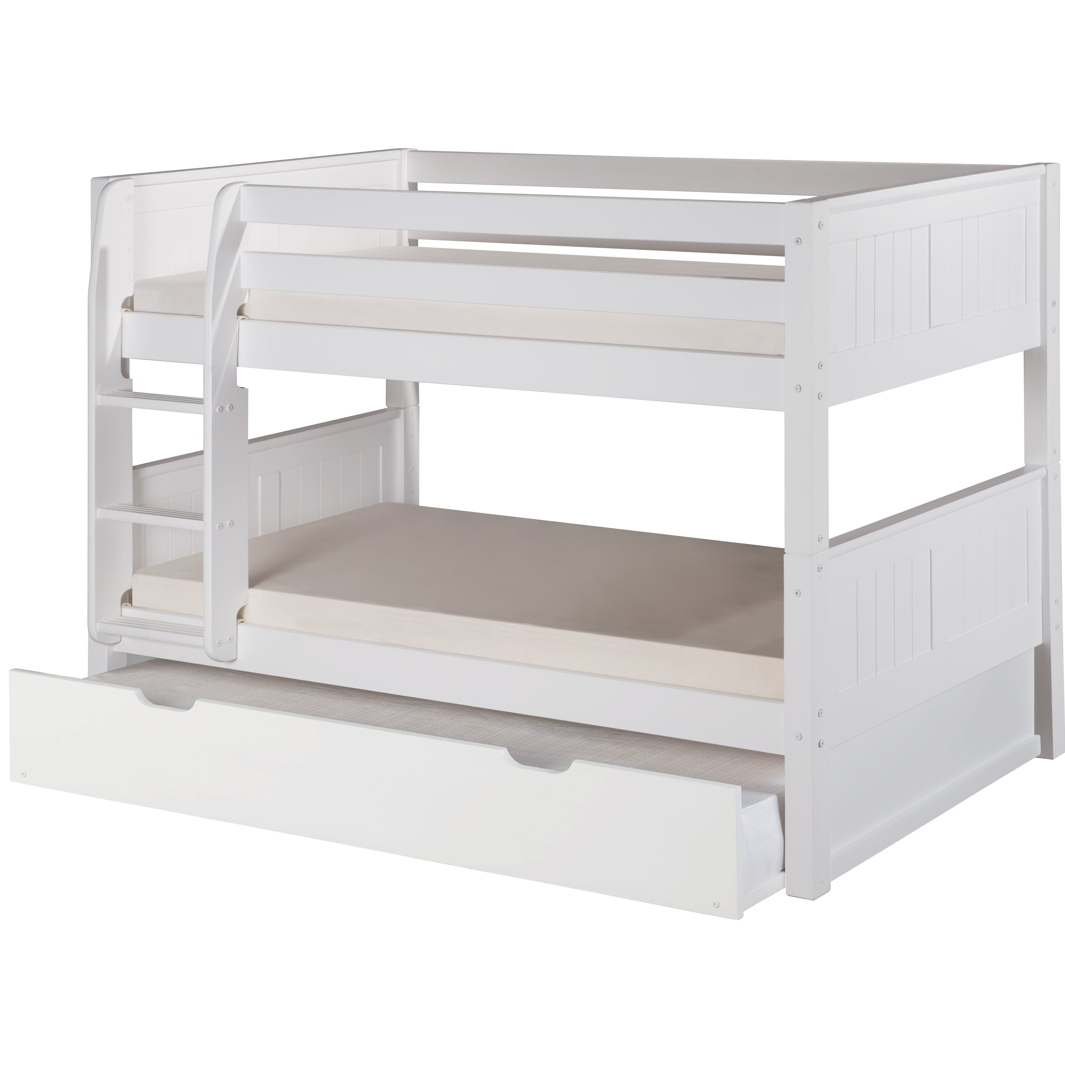 camaflexi camaflexi low twin bunk bed with trundle reviews wayfair. Black Bedroom Furniture Sets. Home Design Ideas
