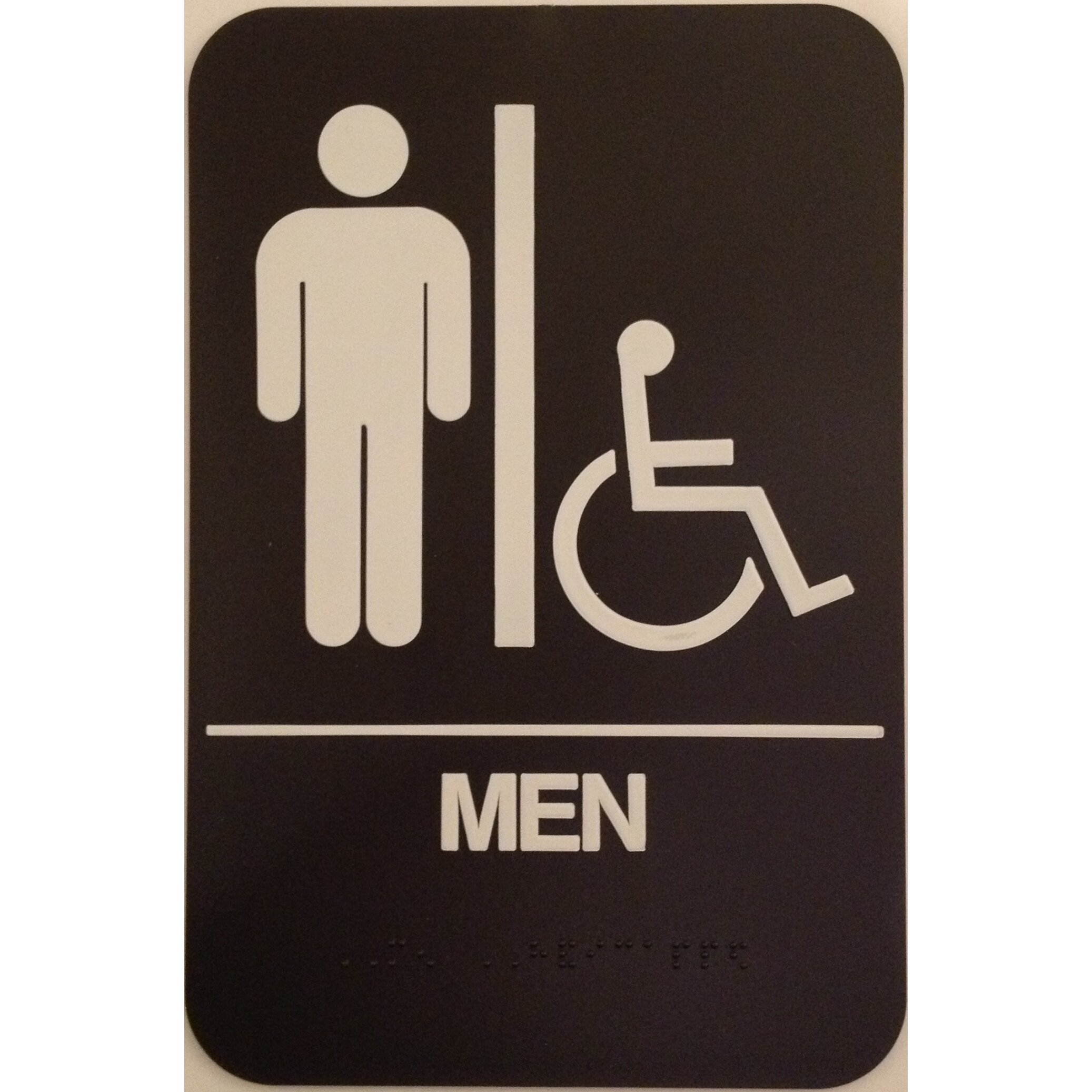 Men 39 S Handicap Restroom Sign Wayfair
