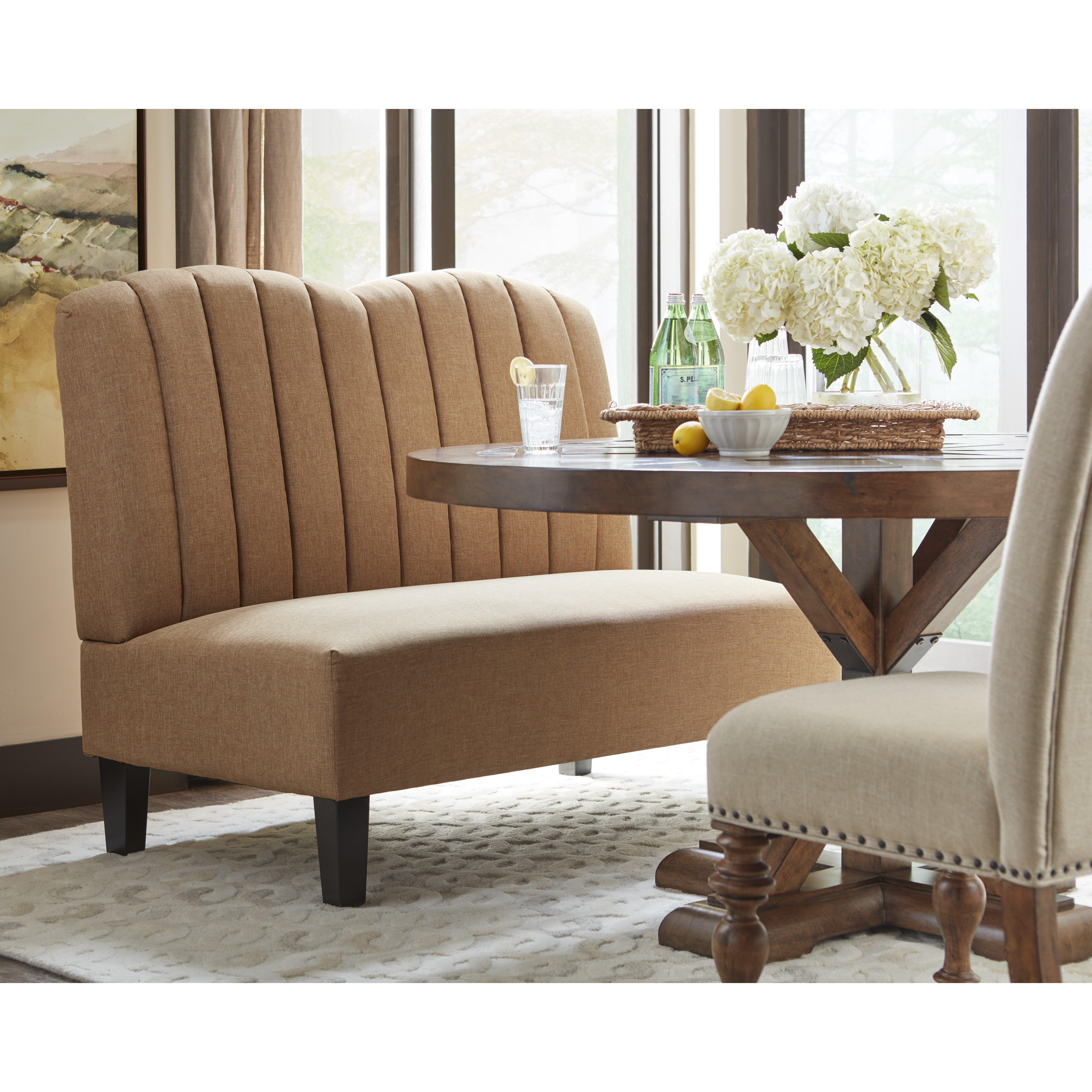 Upholstered Banquette: PRI Upholstered Banquette In Hayden Honey & Reviews