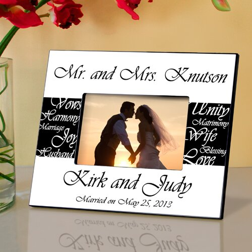 JDS Personalized Gifts Personalized Gift Mr. and Mrs. Wedding Picture ...