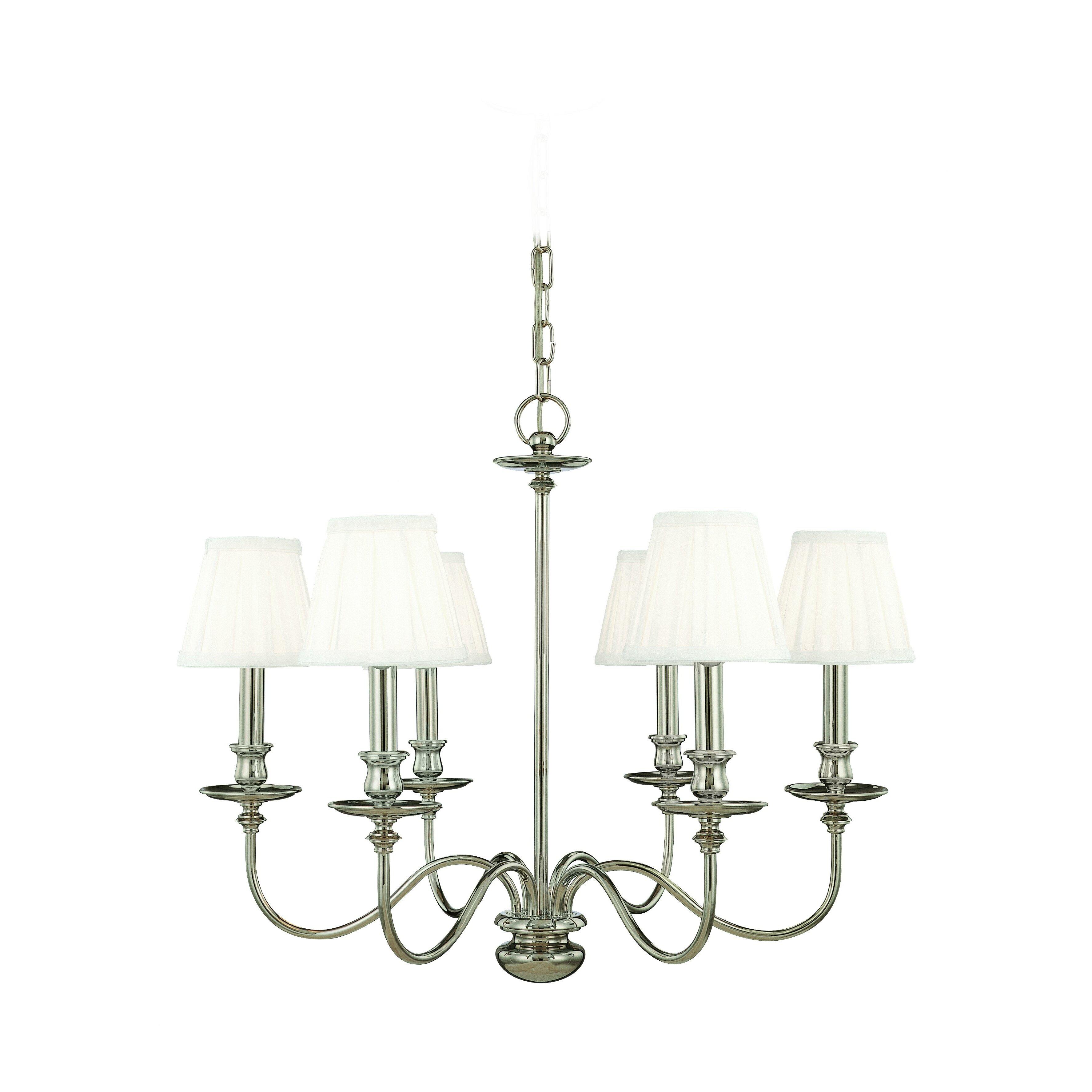 hudson valley lighting menlo park 6 light chandelier