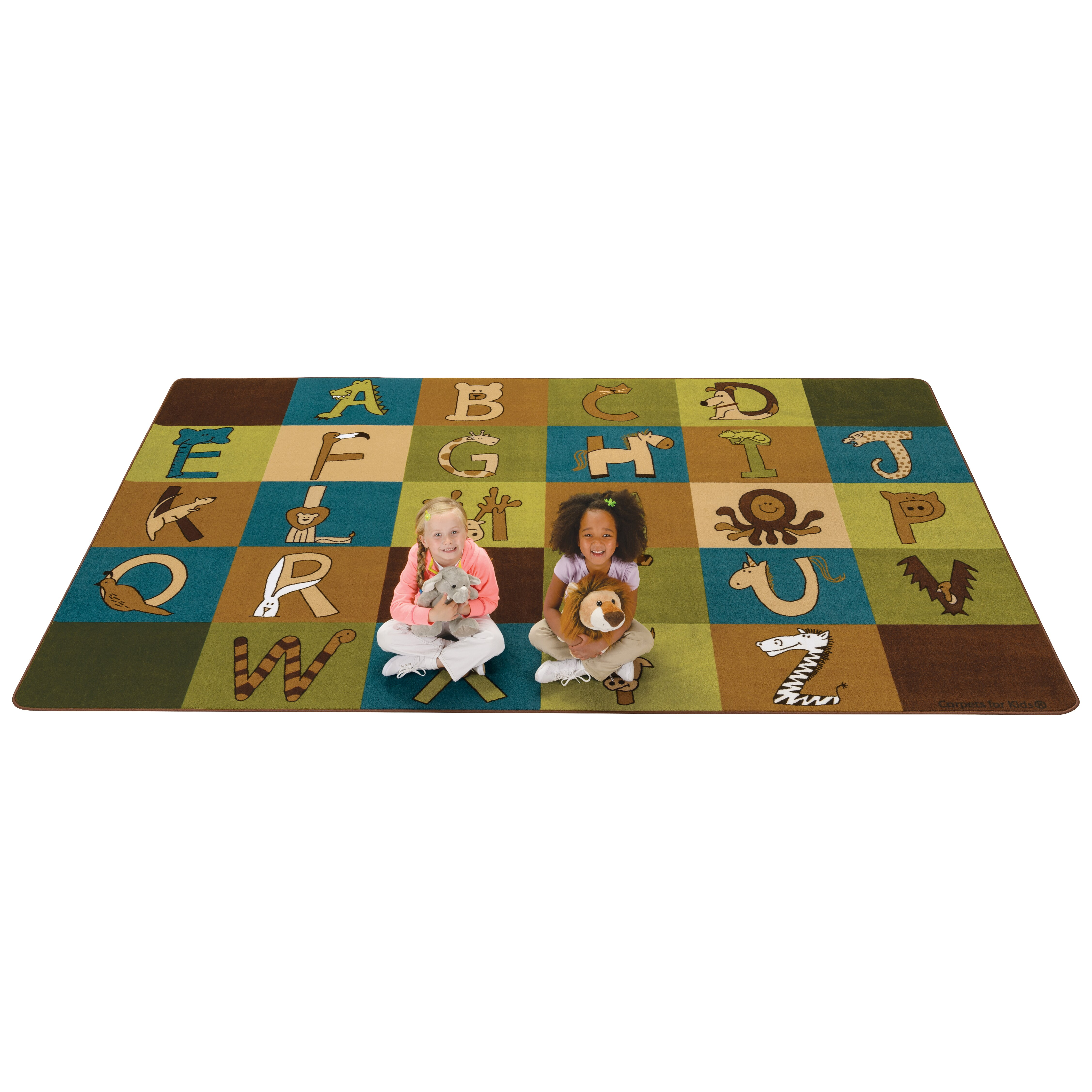 Kids Value Rugs A To Z Animals Area Rug & Reviews