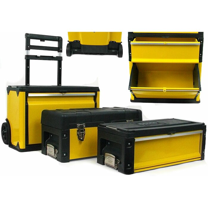 stalwart stackable mobile tool box with wheels 1