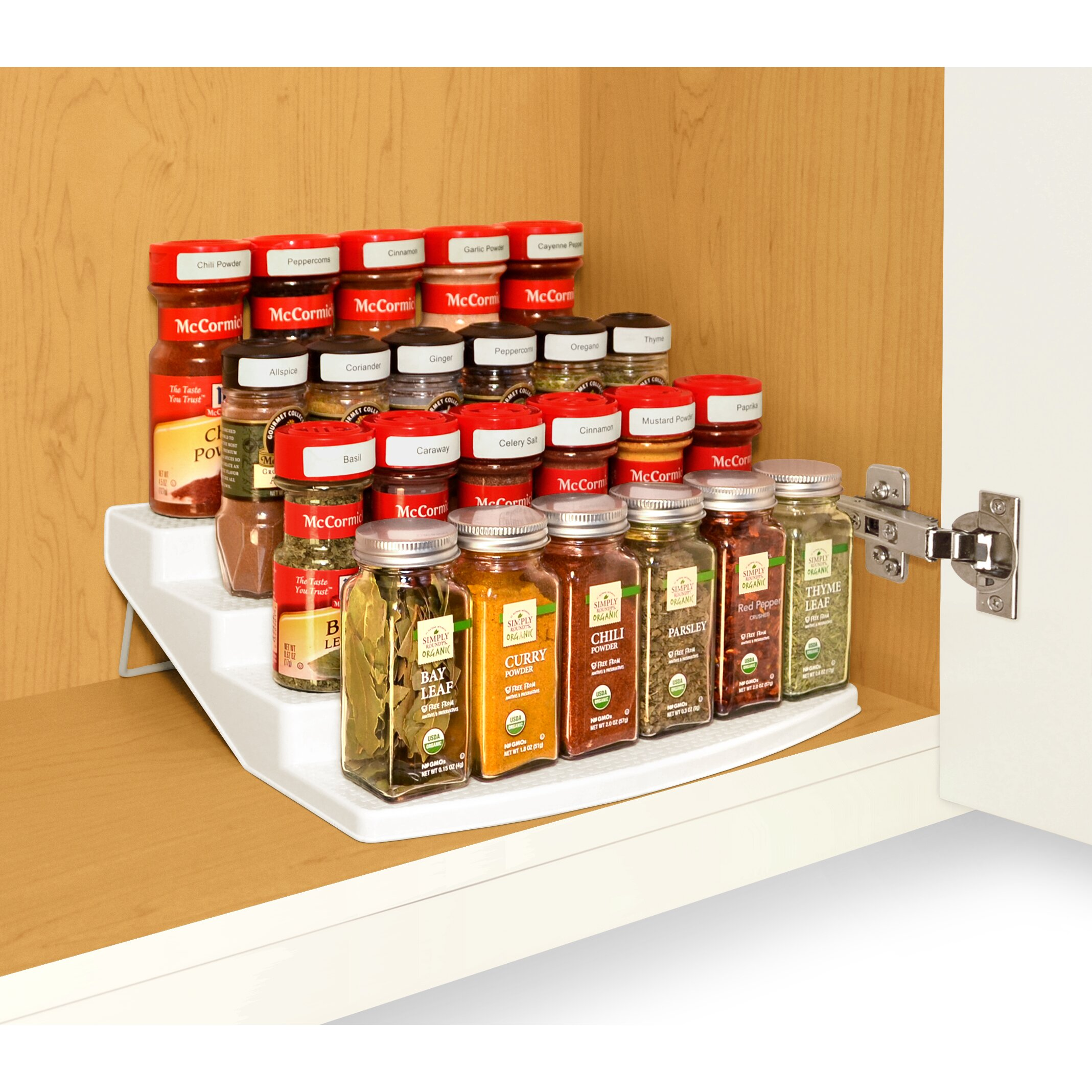 Spice Organizers For Kitchen Cabinets: Spice Steps 4-Tier Cabinet Spice Rack Organizer