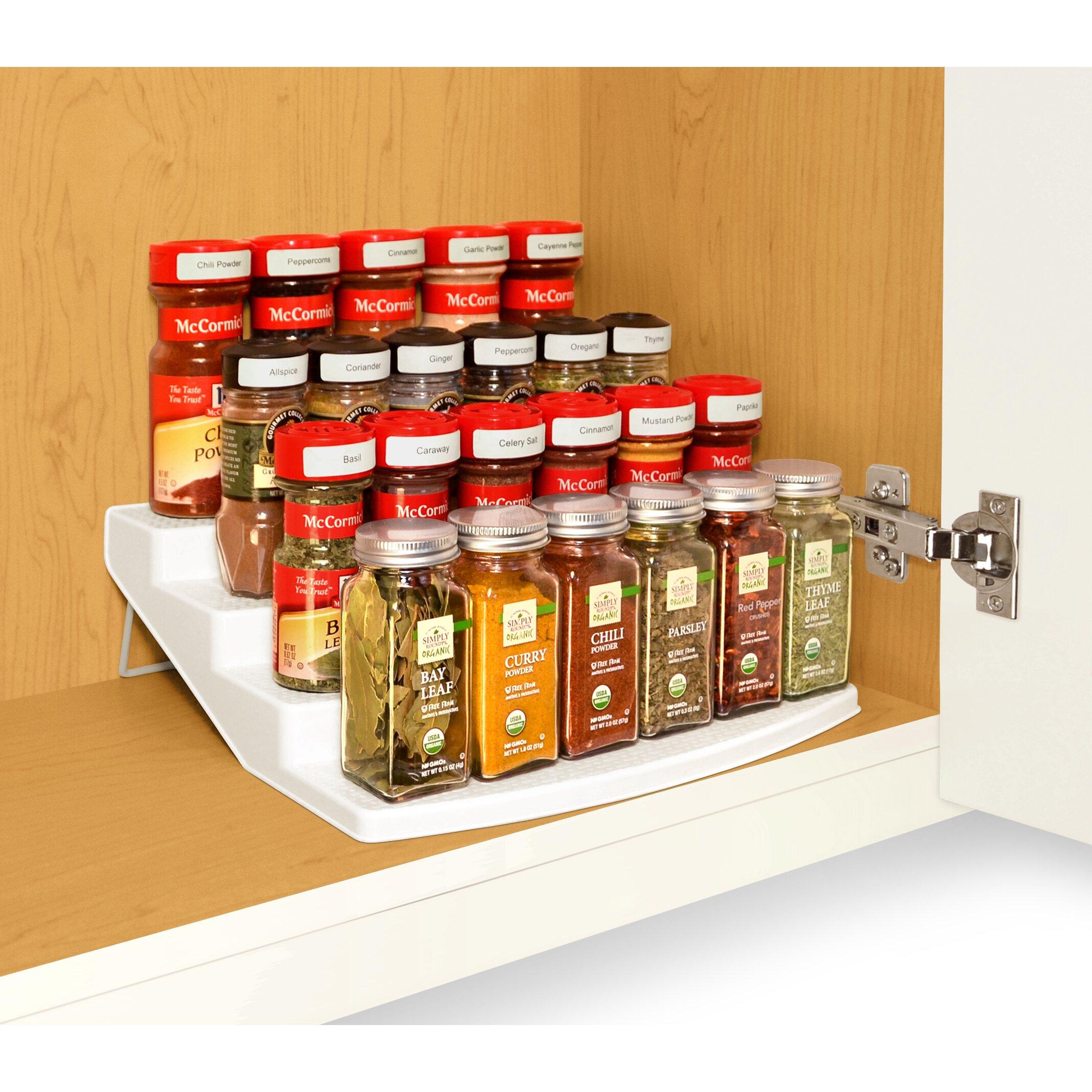 Spice Steps 4 Tier Cabinet Spice Rack Organizer