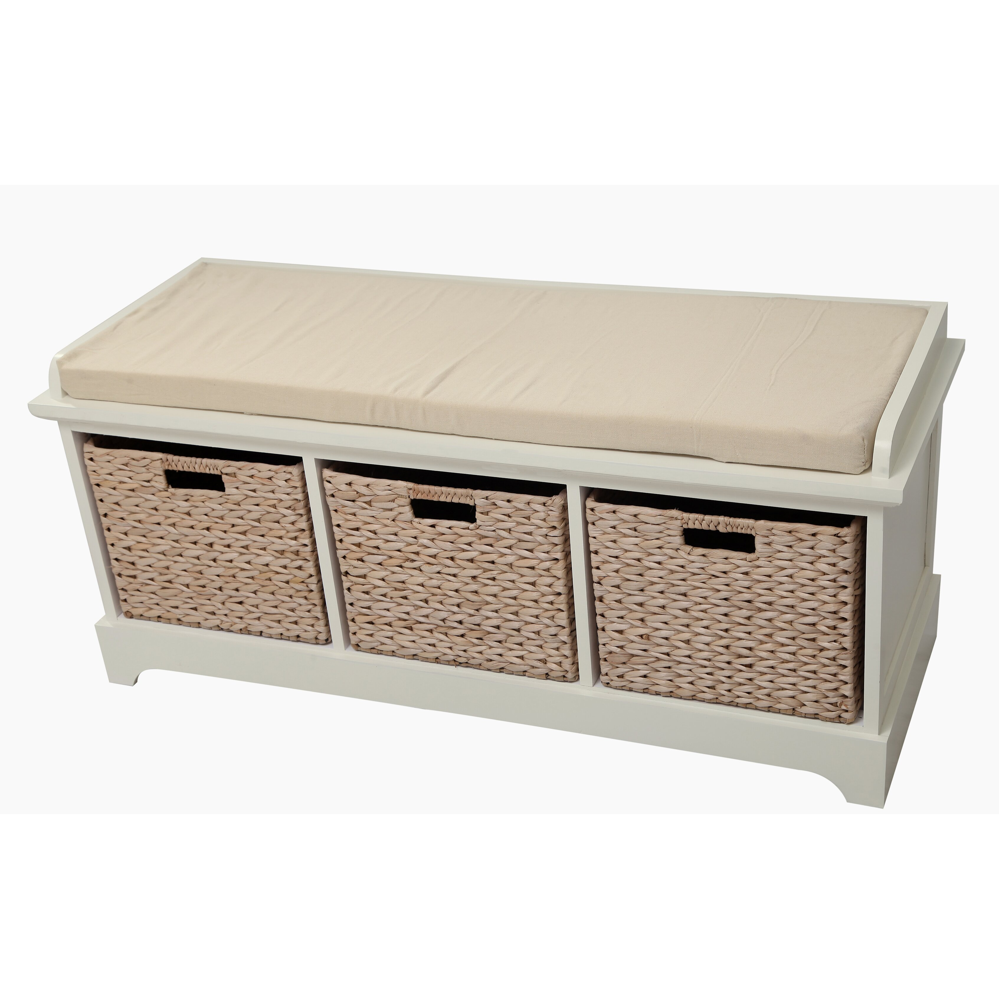 Patio wall decorations - Gallerie Decor Newport Wooden Bedroom Storage Bench With 3