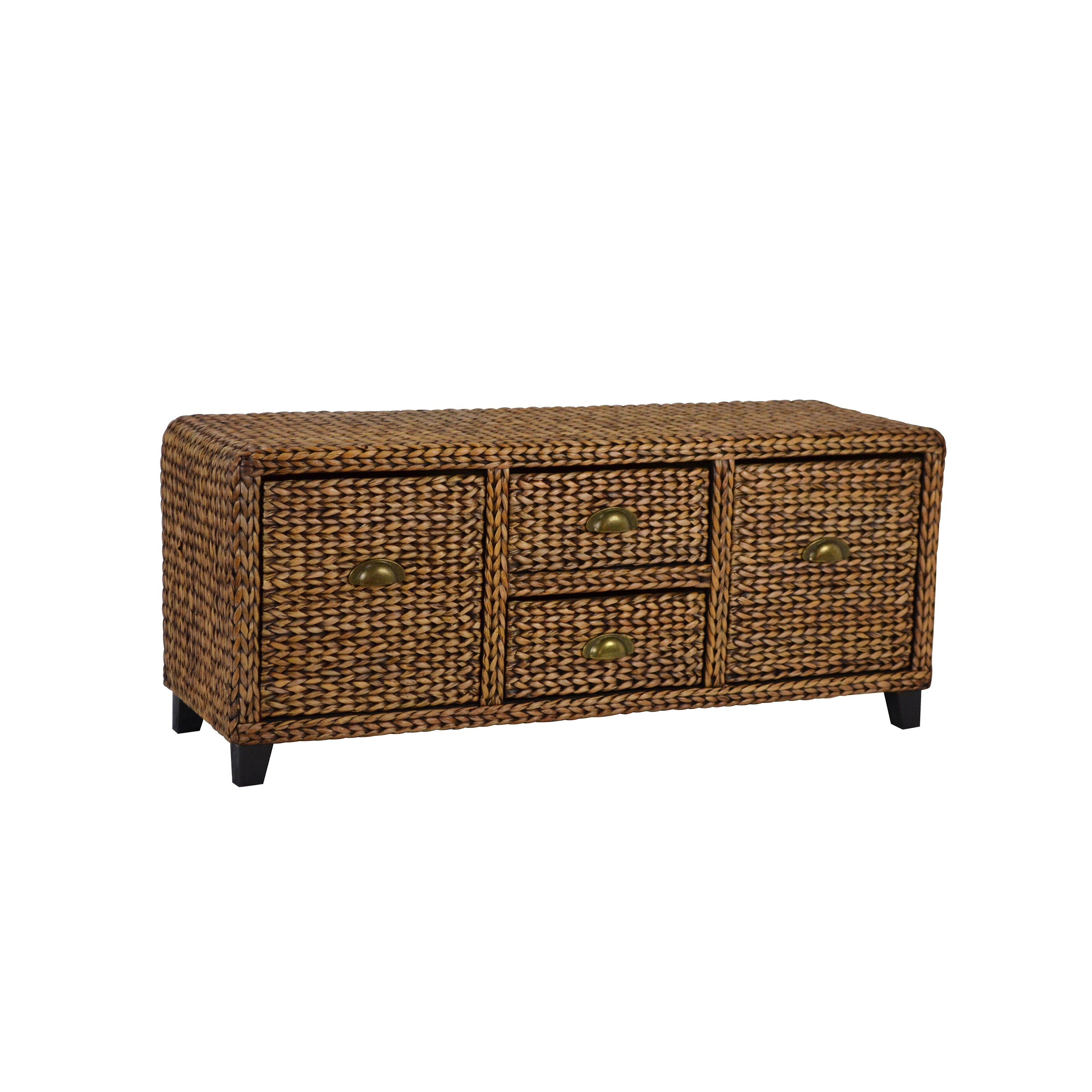 Gallerie decor bali breeze wood storage entryway bench reviews wayfair - Decorative stools and benches ...