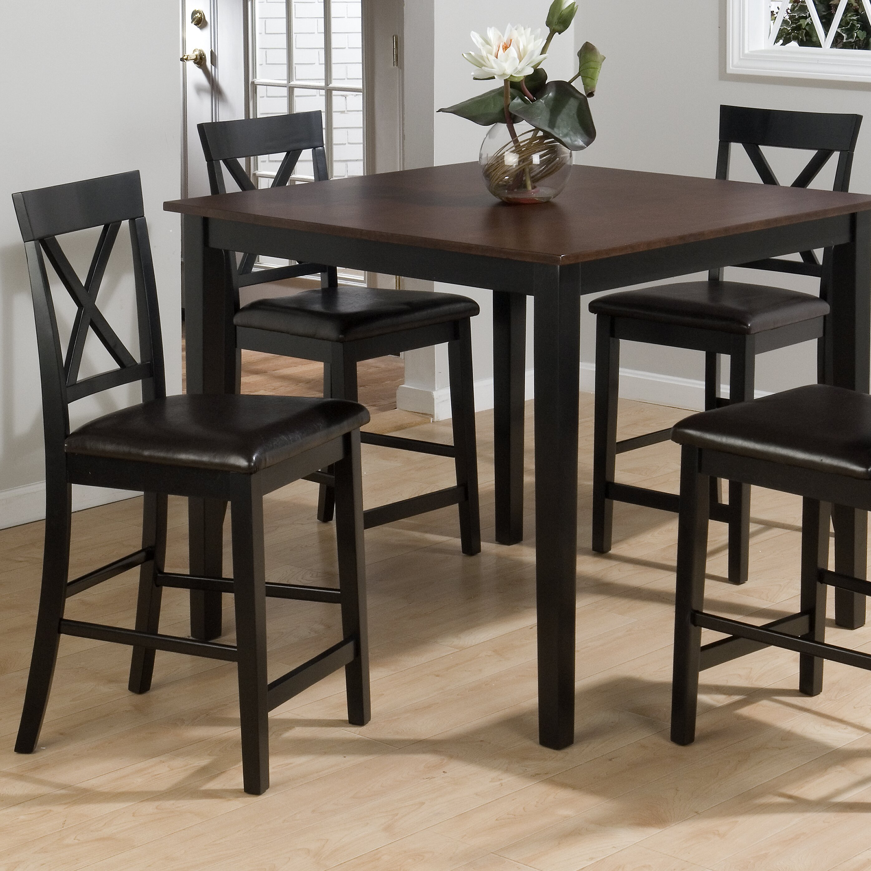 Jofran Burly 5 Piece Counter Height Dining Table Set