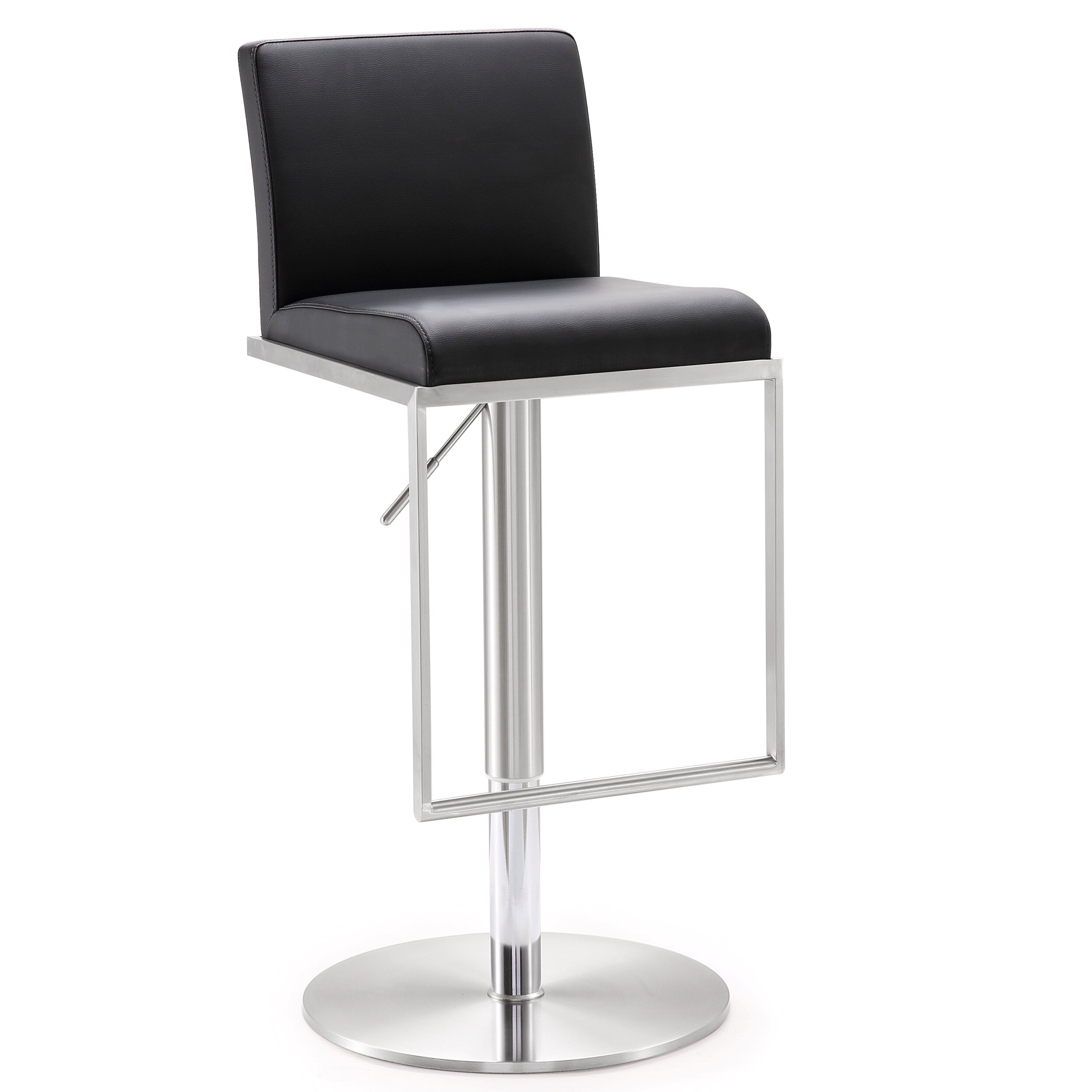 adjustable height swivel bar stool with cushion reviews wayfair