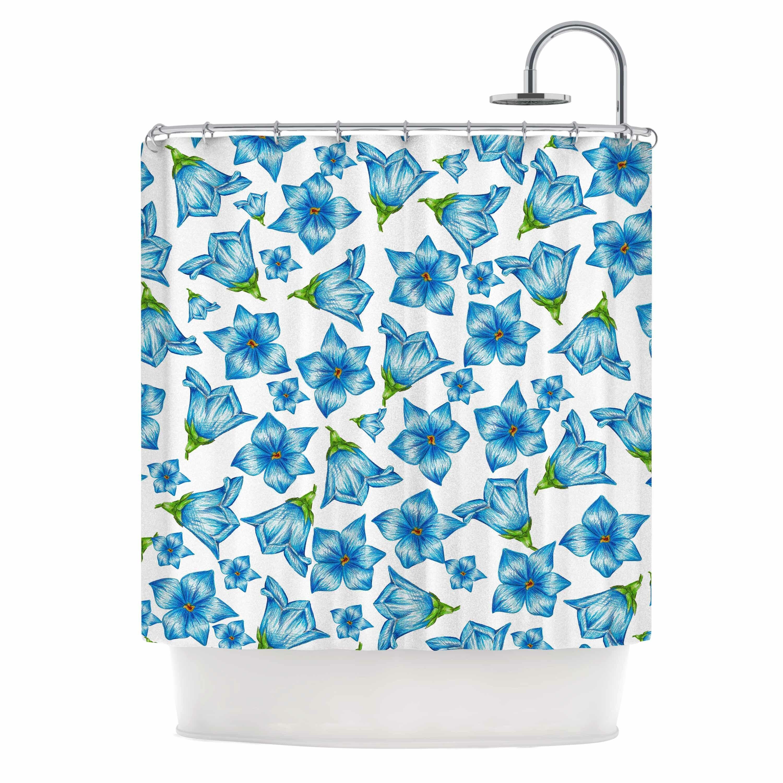 flowers by alisa drukman floral shower curtain wayfair