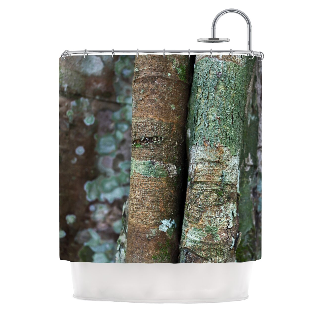 Into the Woods by Susan Sanders Rustic Shower Curtain
