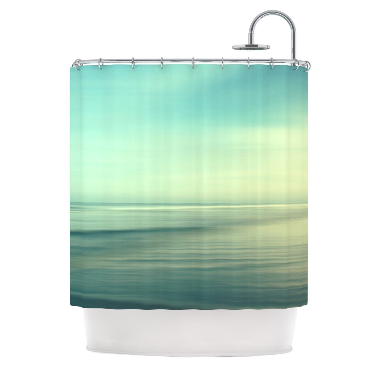 beach polyester shower curtain by kess inhouse