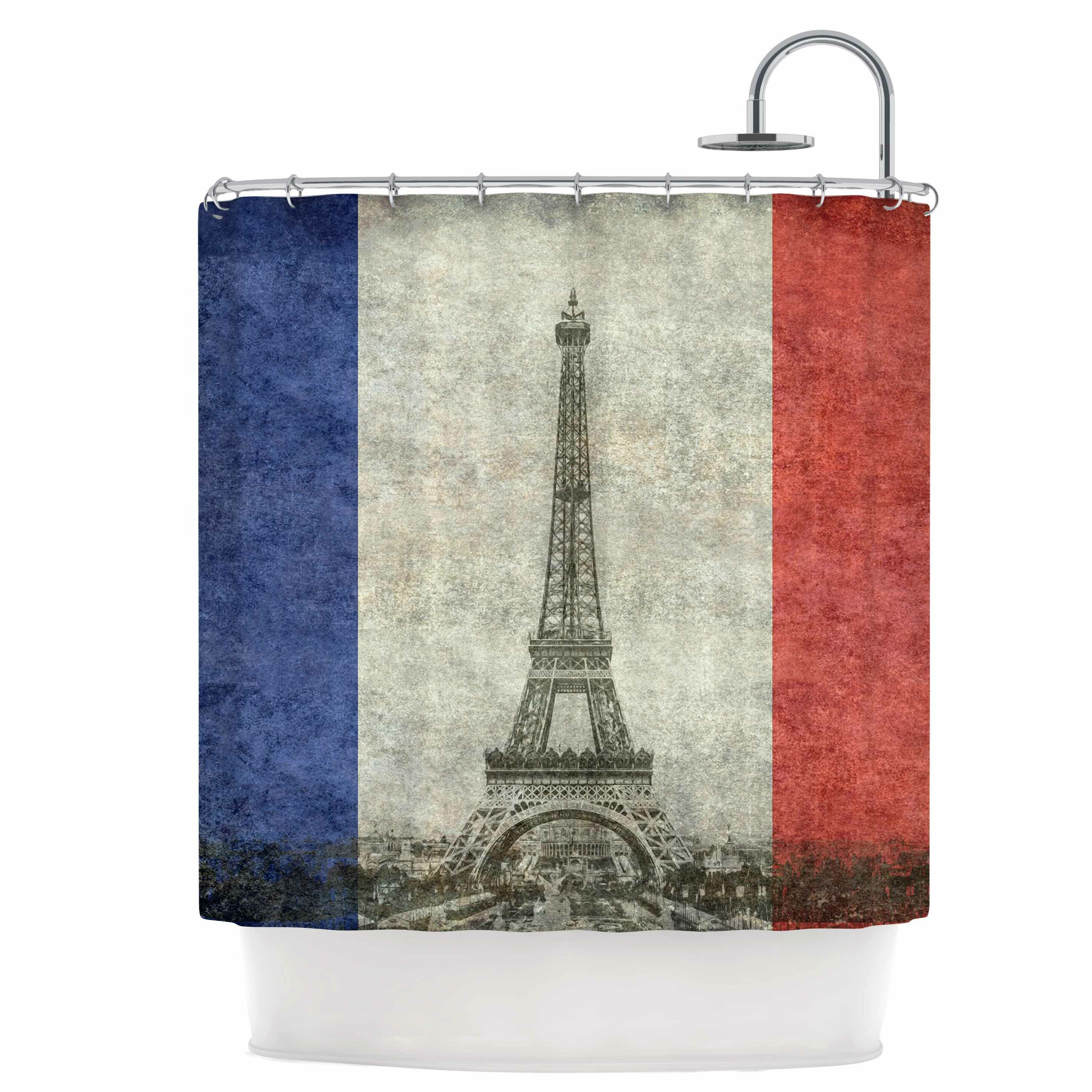 Vintage Paris Shower Curtain by KESS InHouse