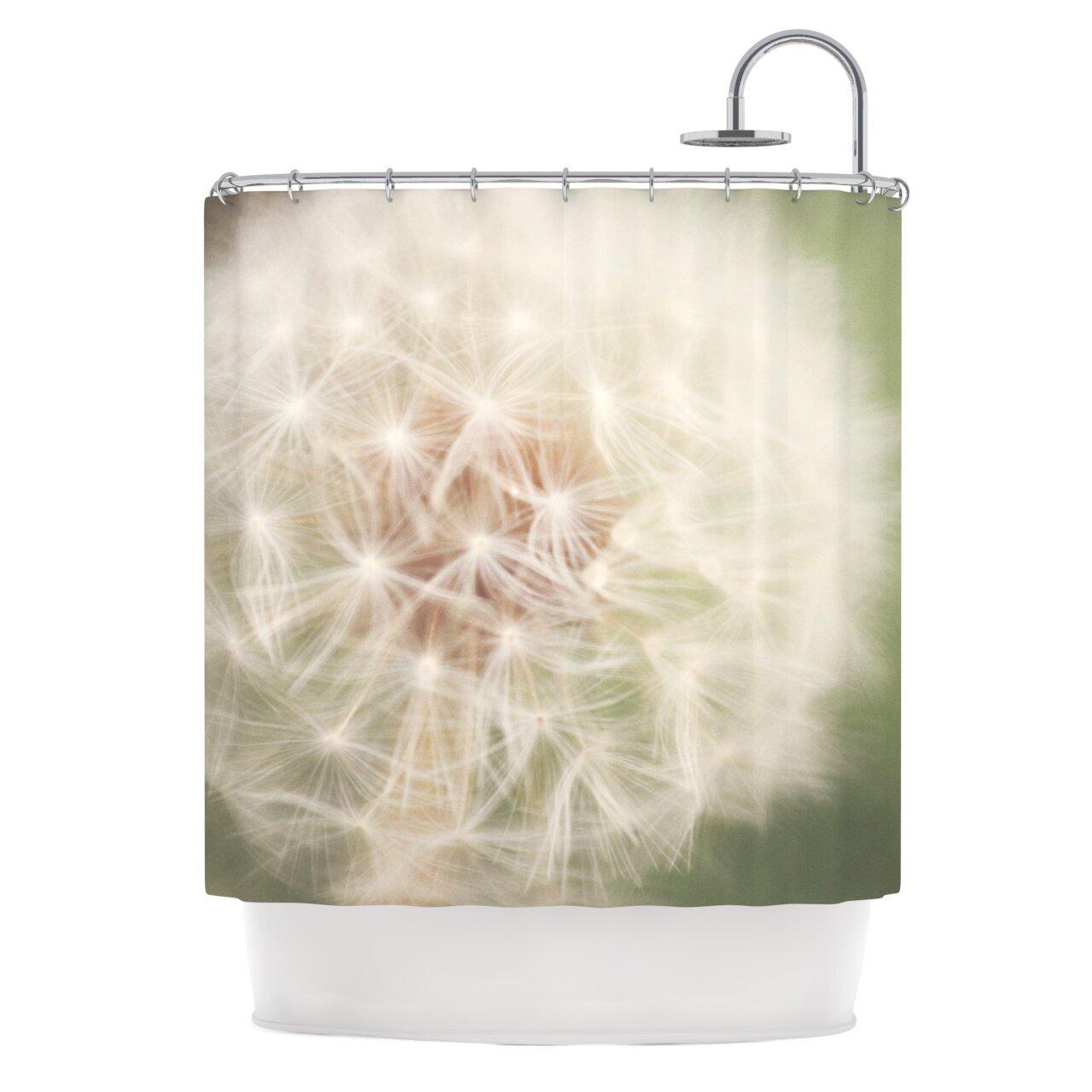 kess inhouse dandelion shower curtain reviews wayfair