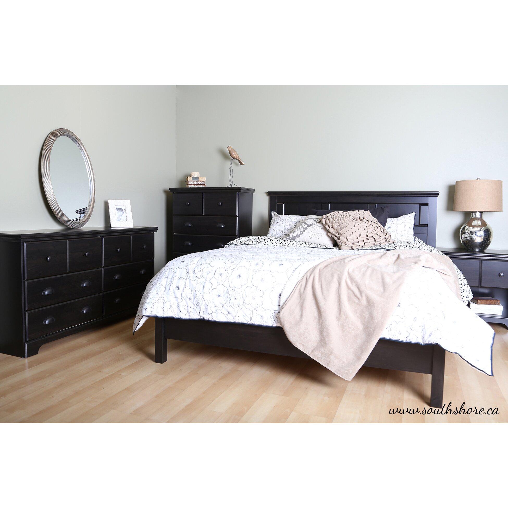 south shore worcester queen platform customizable bedroom