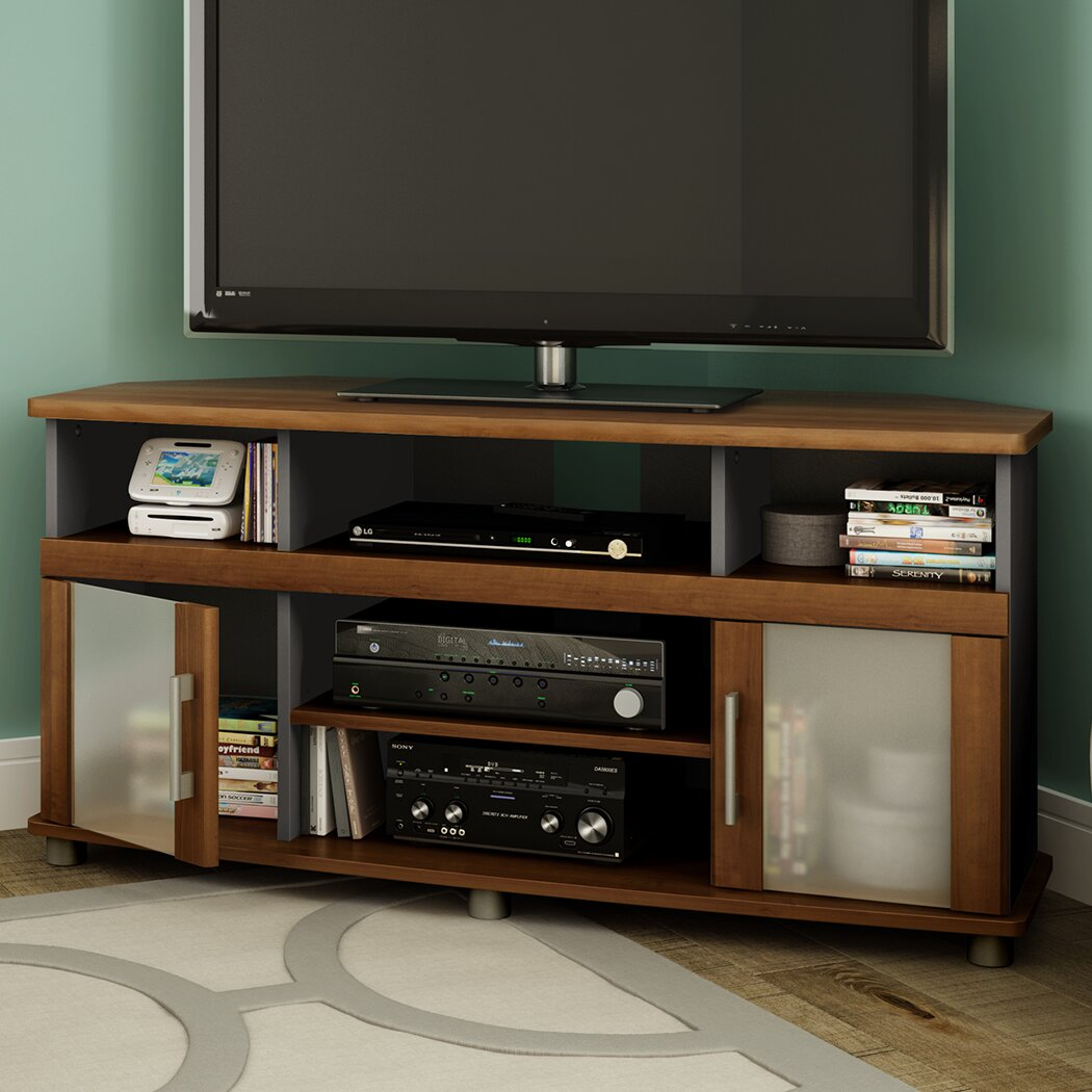 south shore city life corner tv stand for tvs up to 50 reviews wayfair. Black Bedroom Furniture Sets. Home Design Ideas