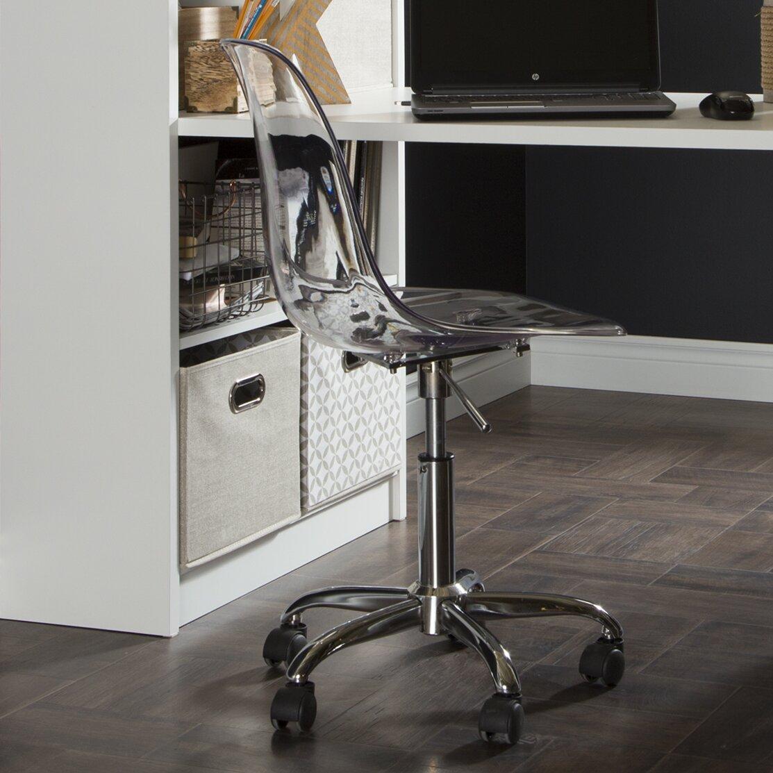 South Shore Acrylic Office Chair Amp Reviews Wayfair