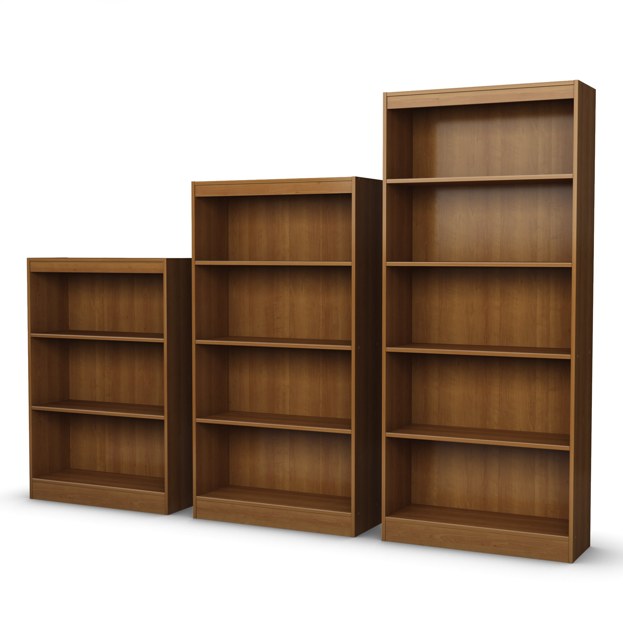 south shore axess 3 shelf 45 standard bookcase reviews. Black Bedroom Furniture Sets. Home Design Ideas