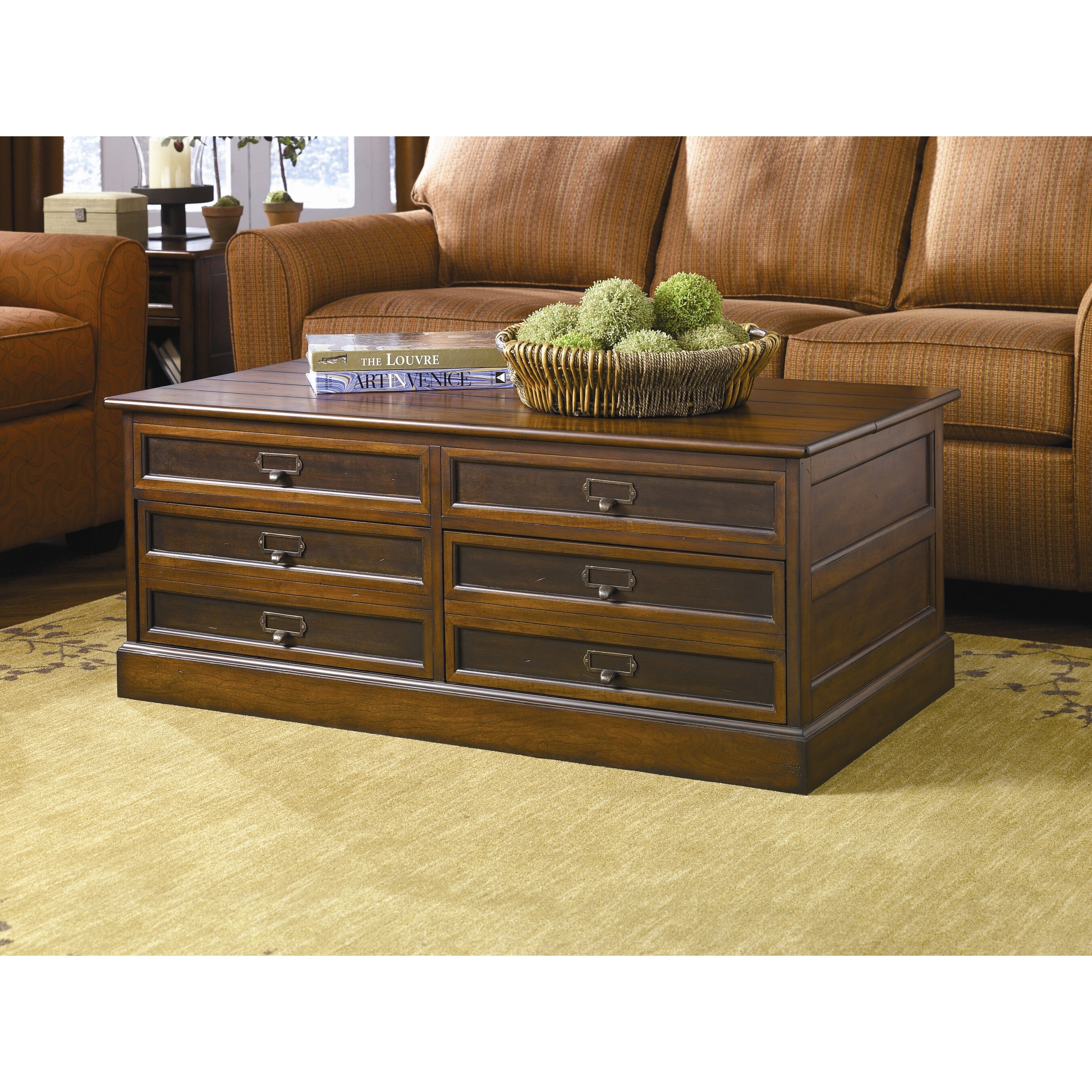 Espresso Coffee Table With Storage: Hammary Mercantile Storage Coffee Table Set & Reviews