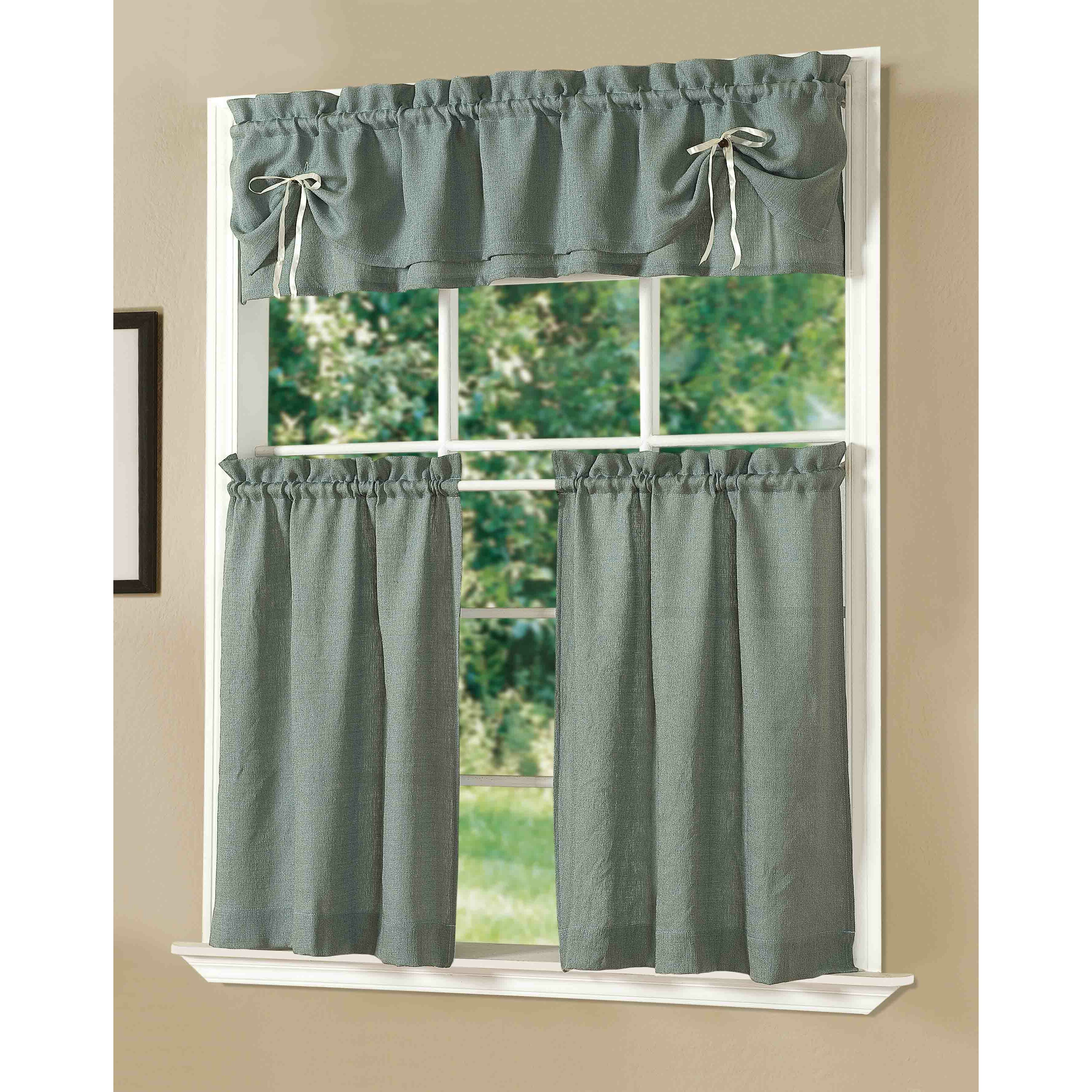 Kitchen Curtains Sets: Dainty Home Kitchen Lucia Curtain Set & Reviews
