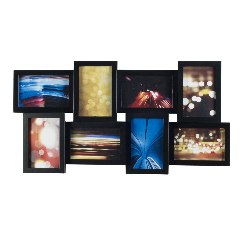 melannco 8 opening collage picture frame reviews wayfair. Black Bedroom Furniture Sets. Home Design Ideas