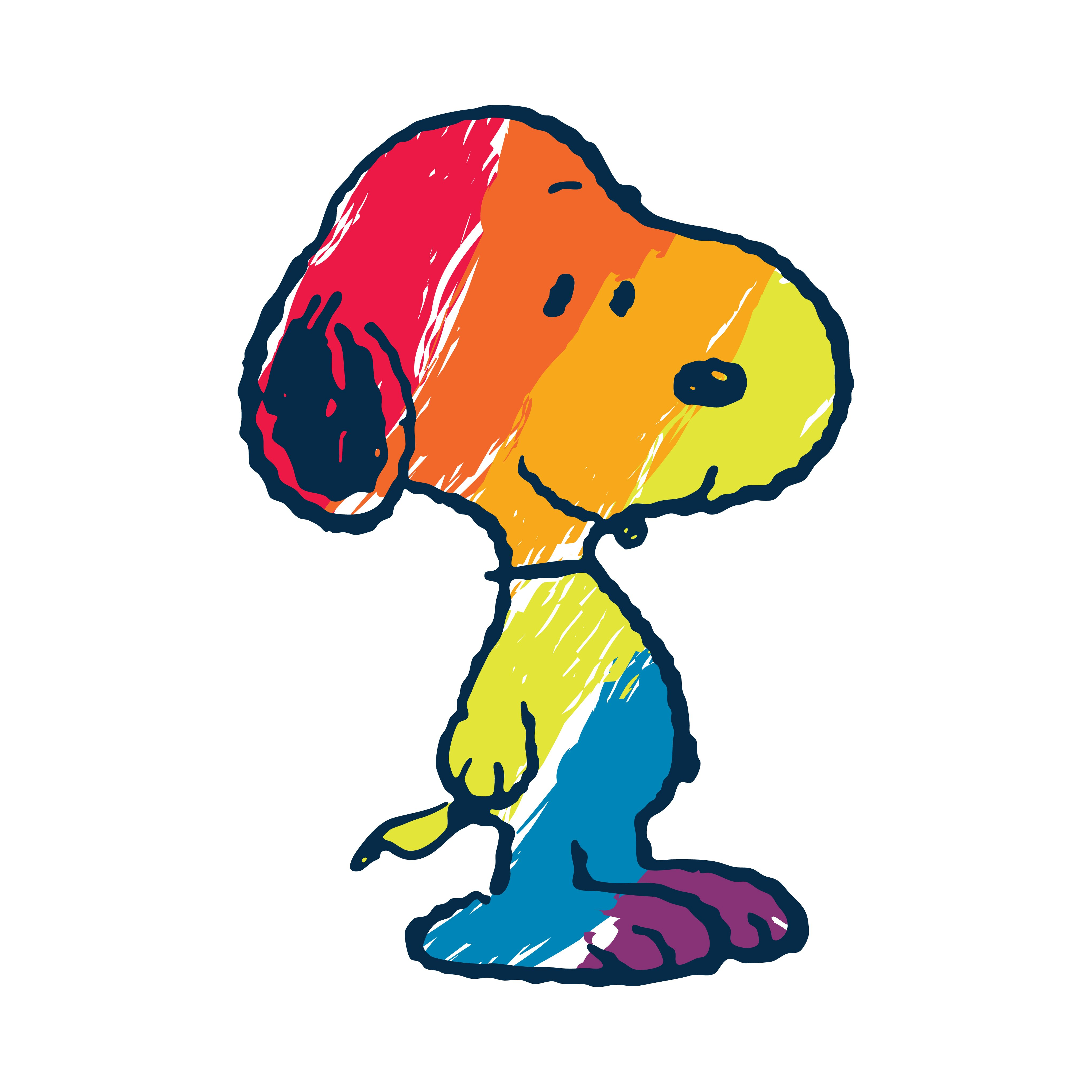 Marmont Hill Peanuts Quot Snoopy Rainbow Quot By Charles M Shultz