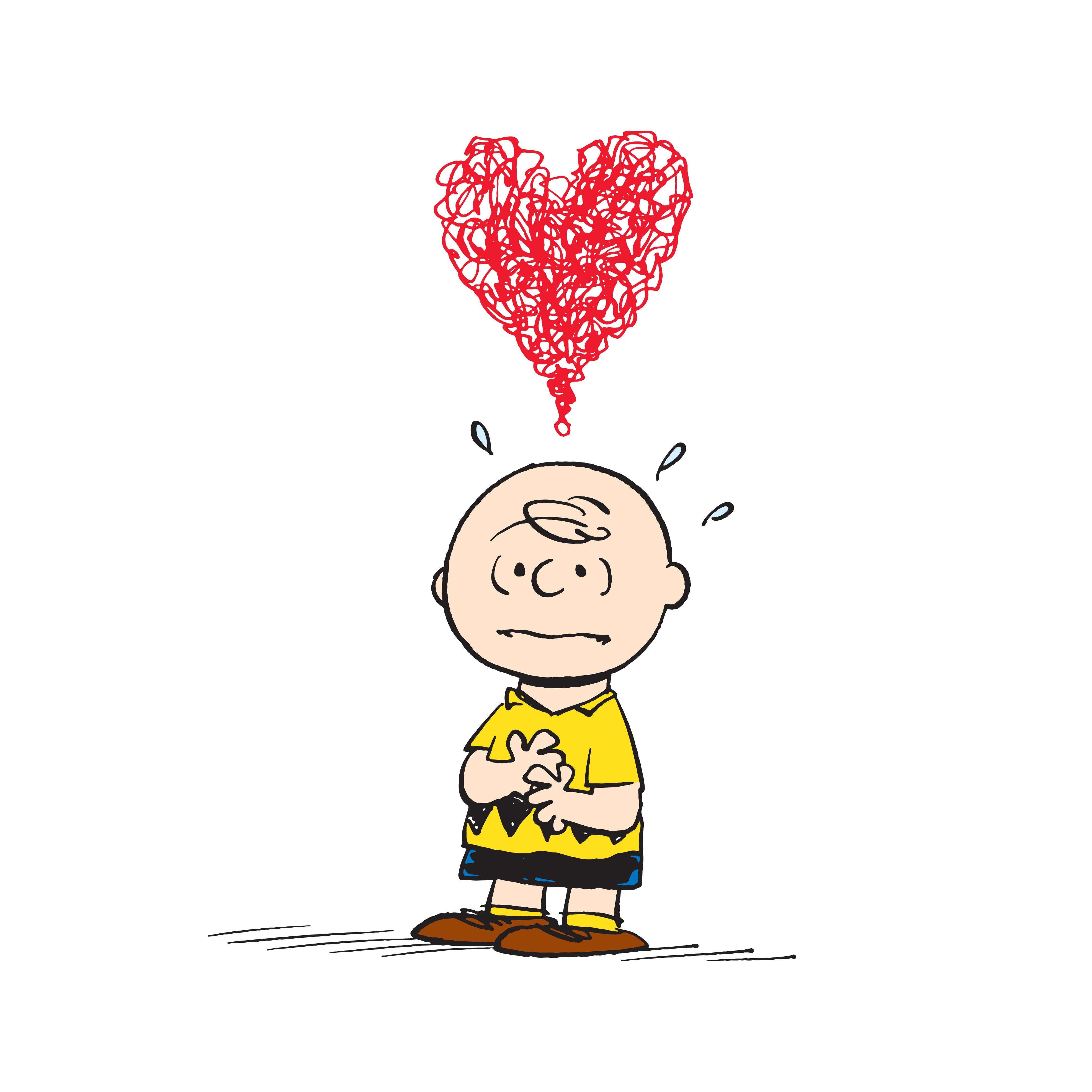 Peanuts Charlie Brown Heart By Charles M Schulz Painting