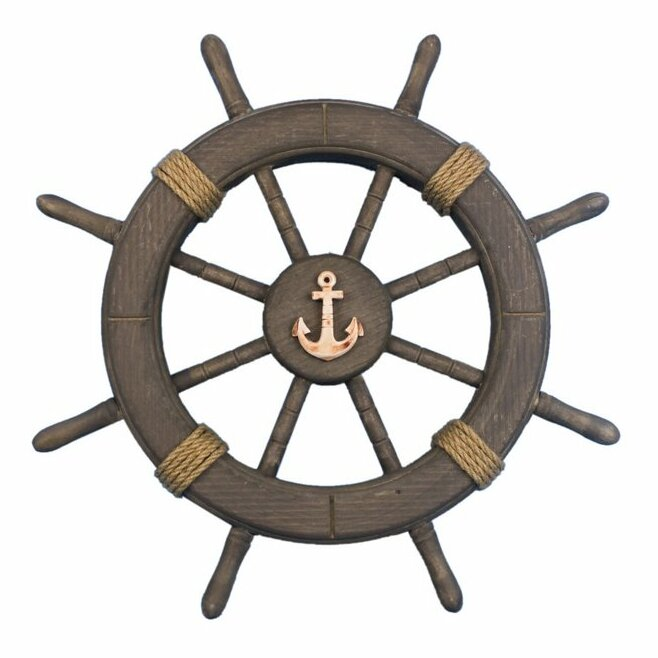 Vintage Anchor Wall Decor : Handcrafted nautical decor antique decorative ship wheel