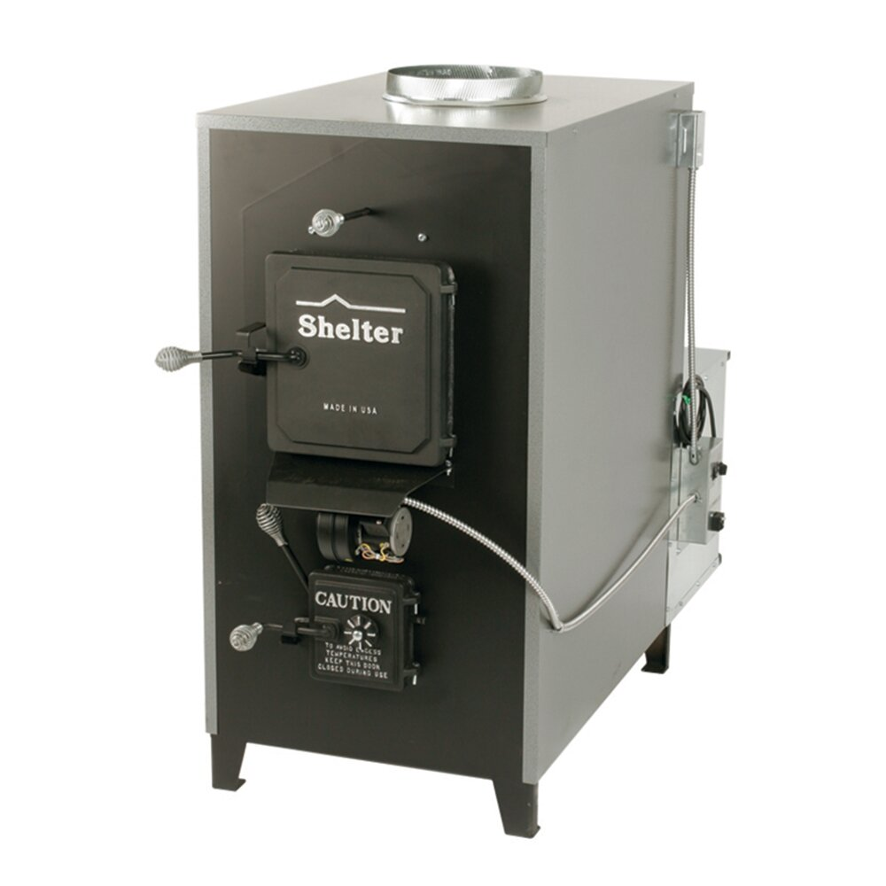 Shelter 100 000 Btu Indoor Wood Coal Burning Forced Air