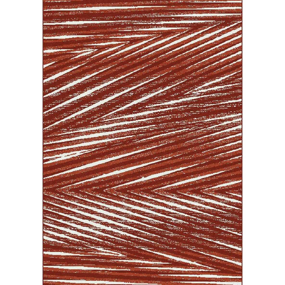 fame palm leaf red area rug wayfair. Black Bedroom Furniture Sets. Home Design Ideas