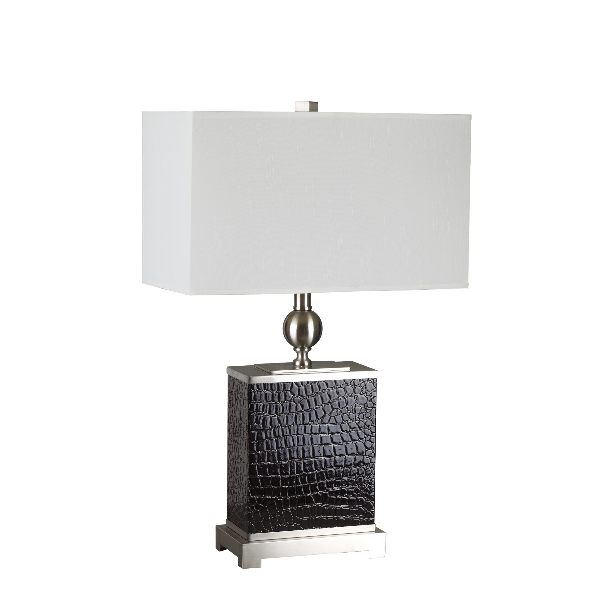 "Shelton 25"" H Table Lamp with Rectangular Shade 