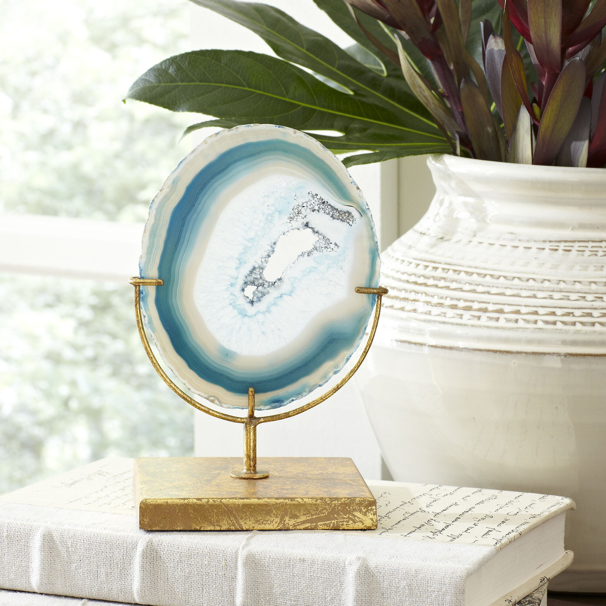Birch Lane Blue Agate Decor Reviews Wayfair