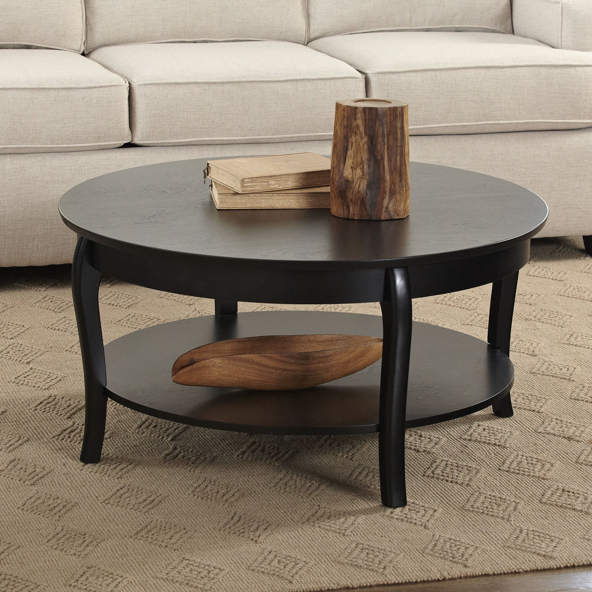 Birch lane alberts round coffee table birch lane for Round centre table designs
