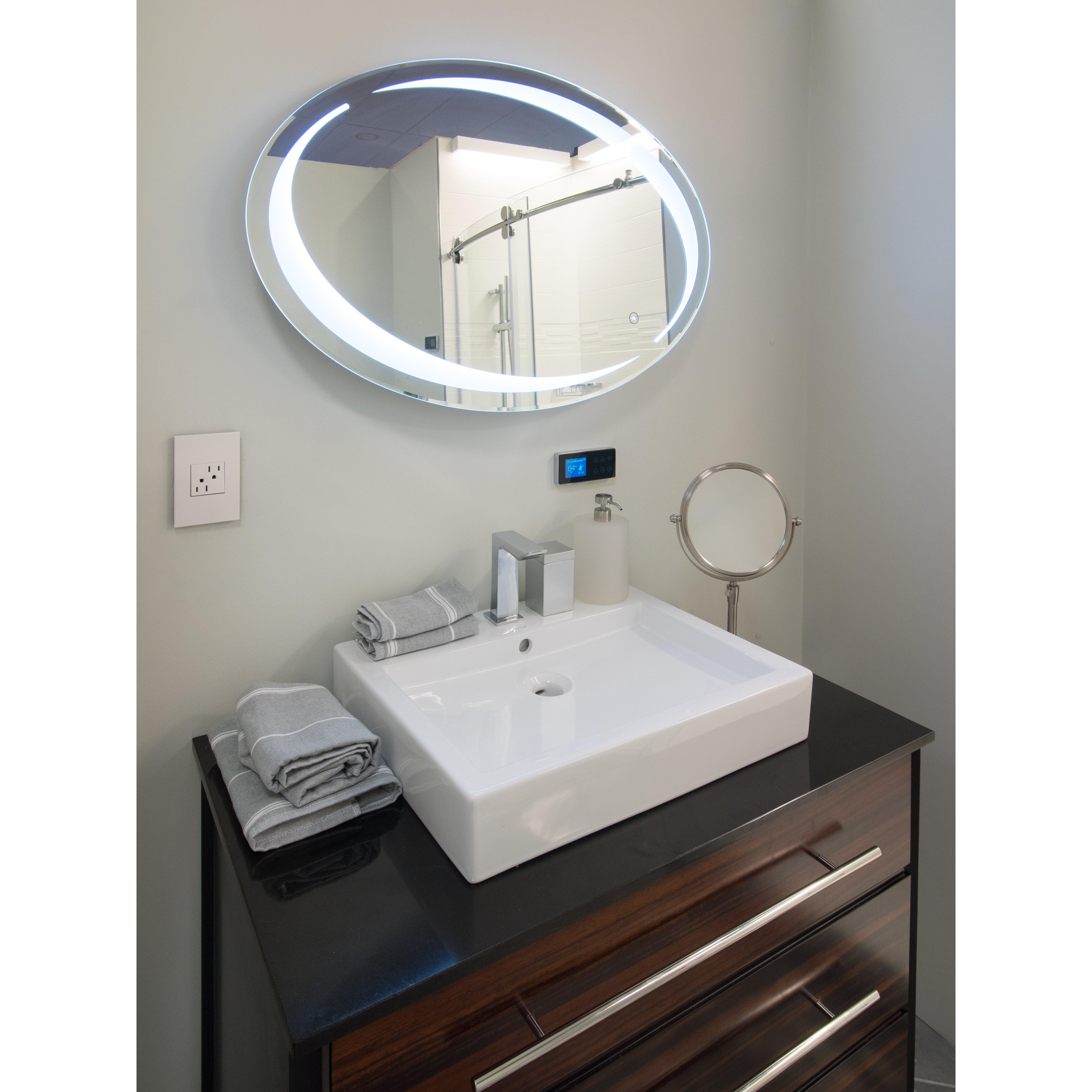 sol oval led vanity mirror wayfair