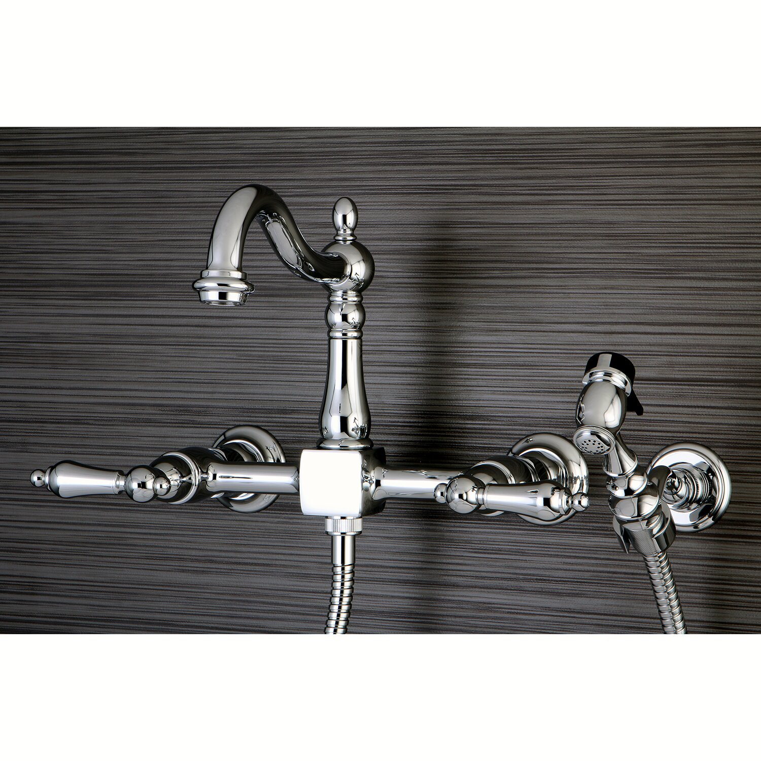 Kingston Brass Heritage Wall Mount Kitchen Faucet with