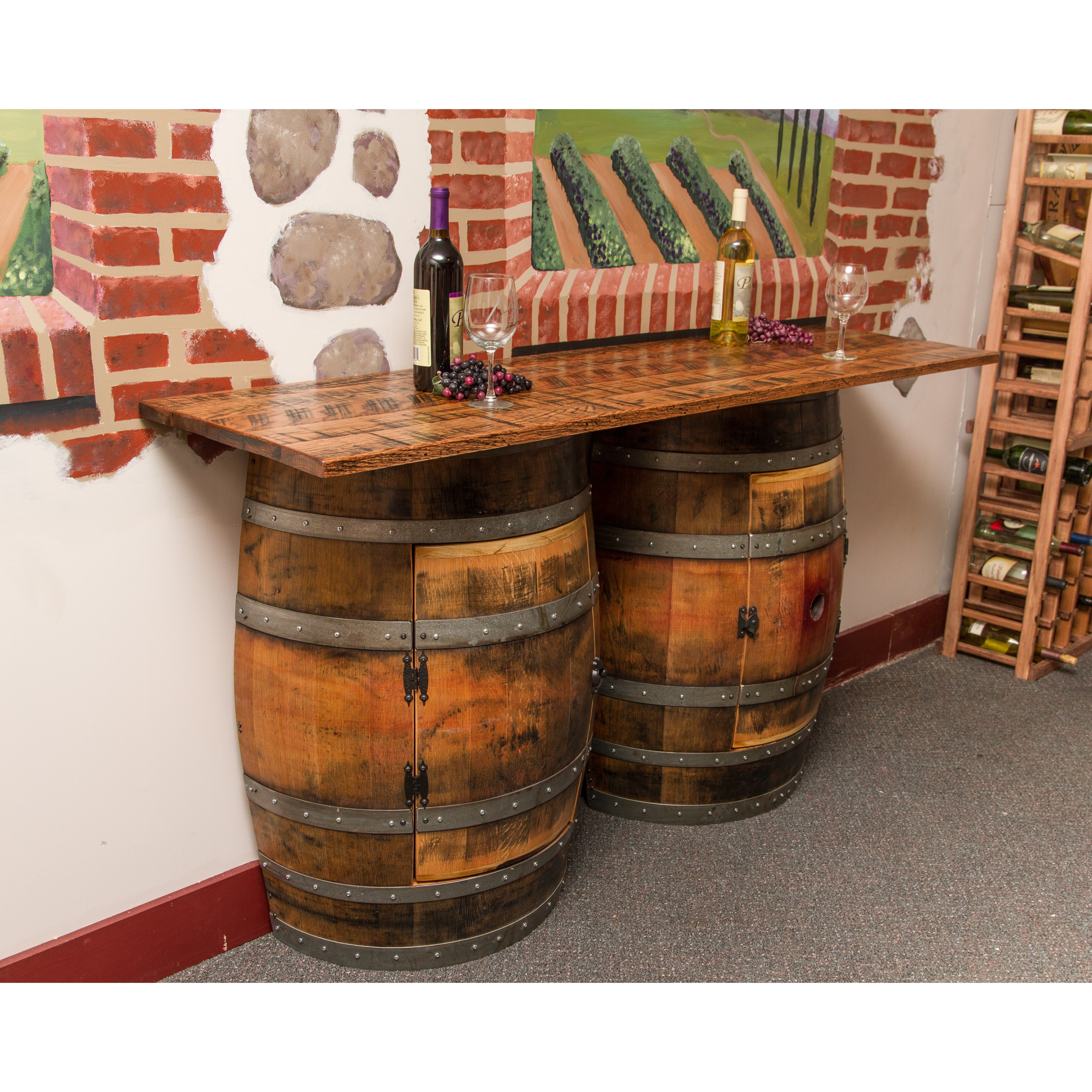 Napa Gathering Collection Napa East Collection Double Half Barrel Bar