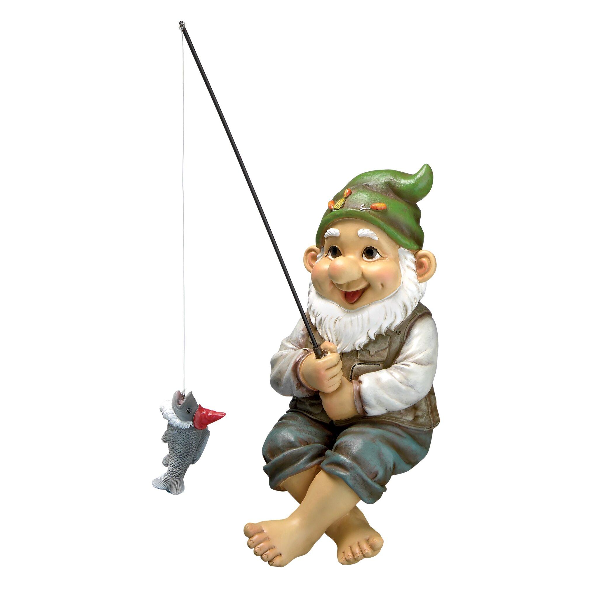 Garden Gnomes On Sale: Design Toscano Ziggy The Fishing Gnome Garden Statue