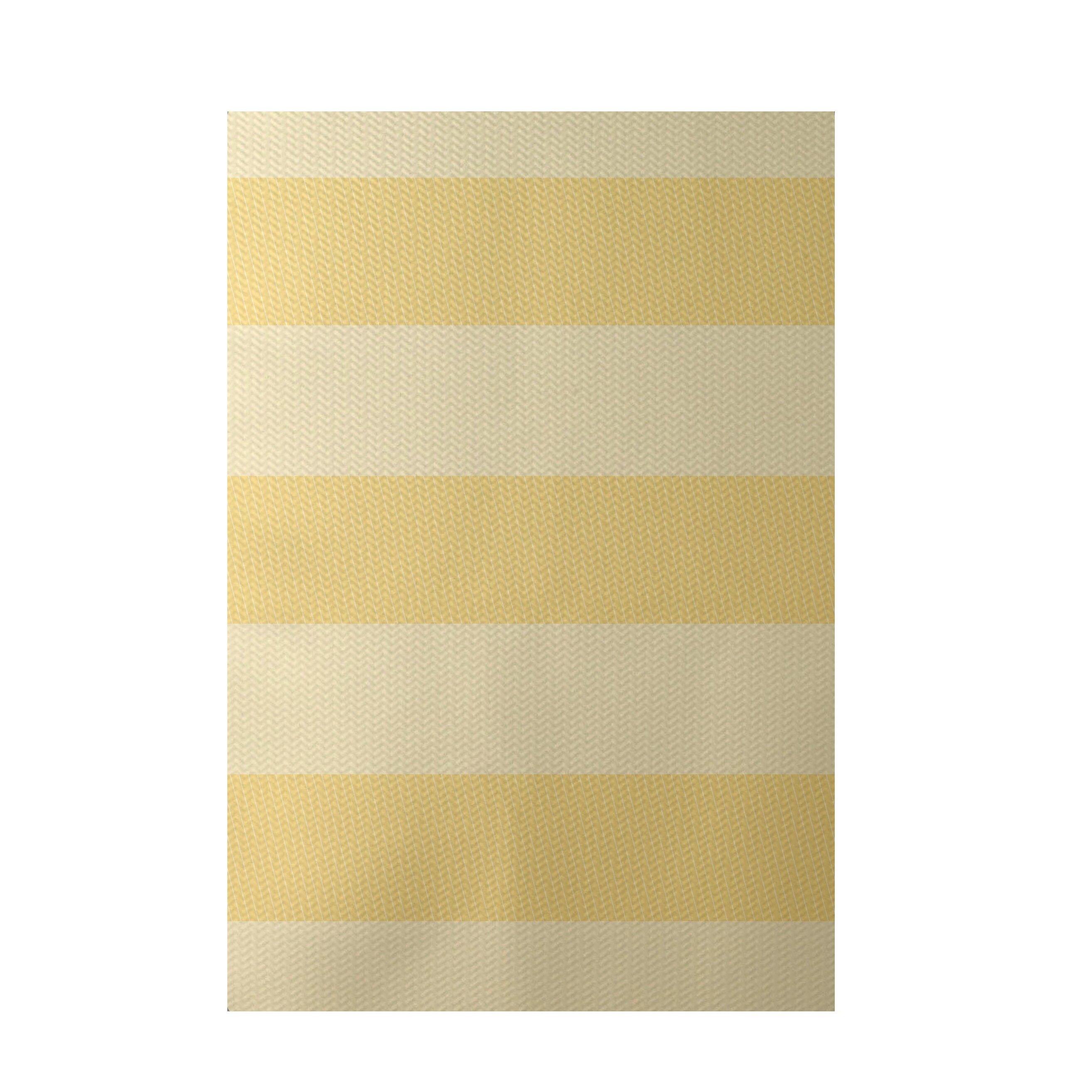 e by design Stripe Yellow Indoor Outdoor Area Rug