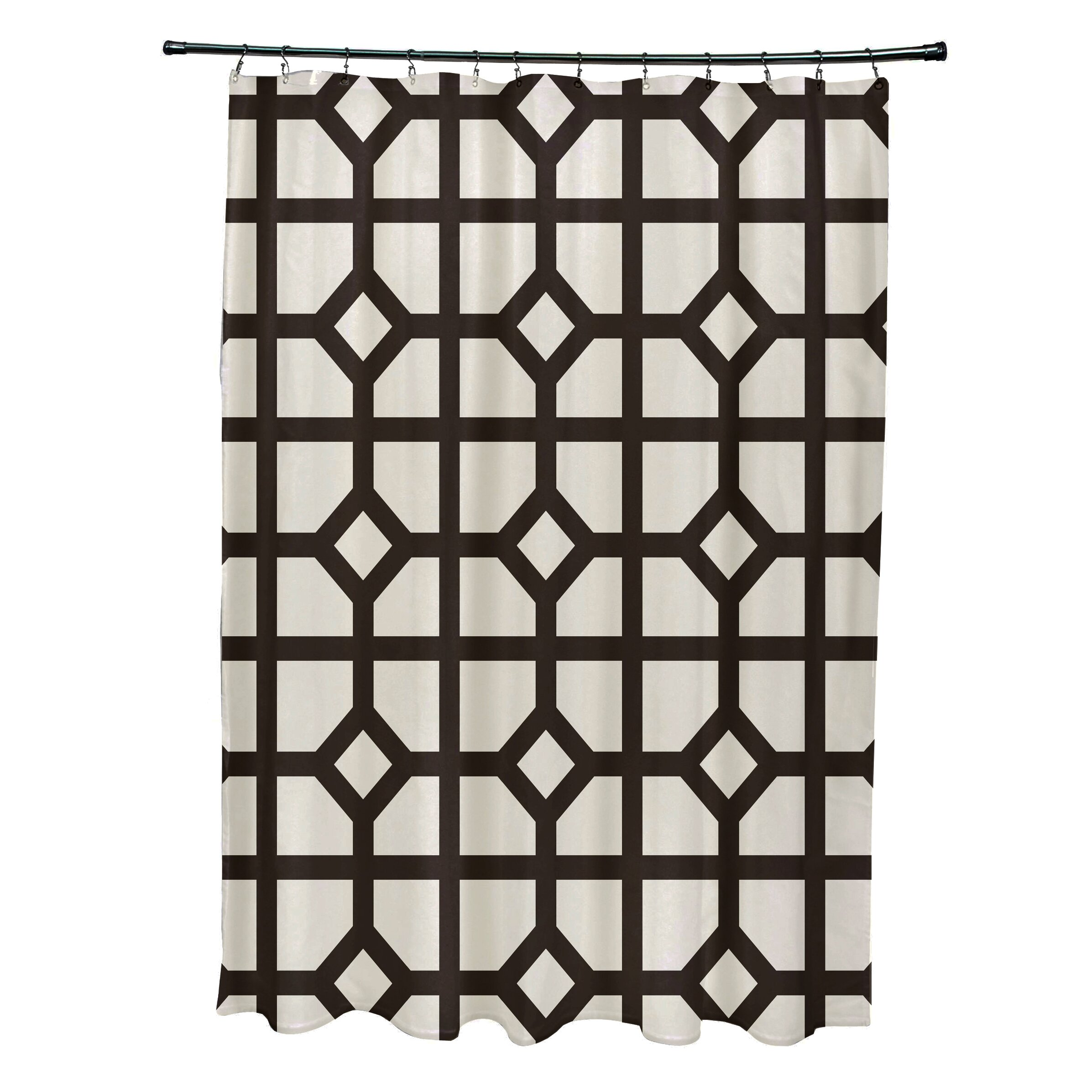 Don't Fret Geometric Print Shower Curtain by e by design