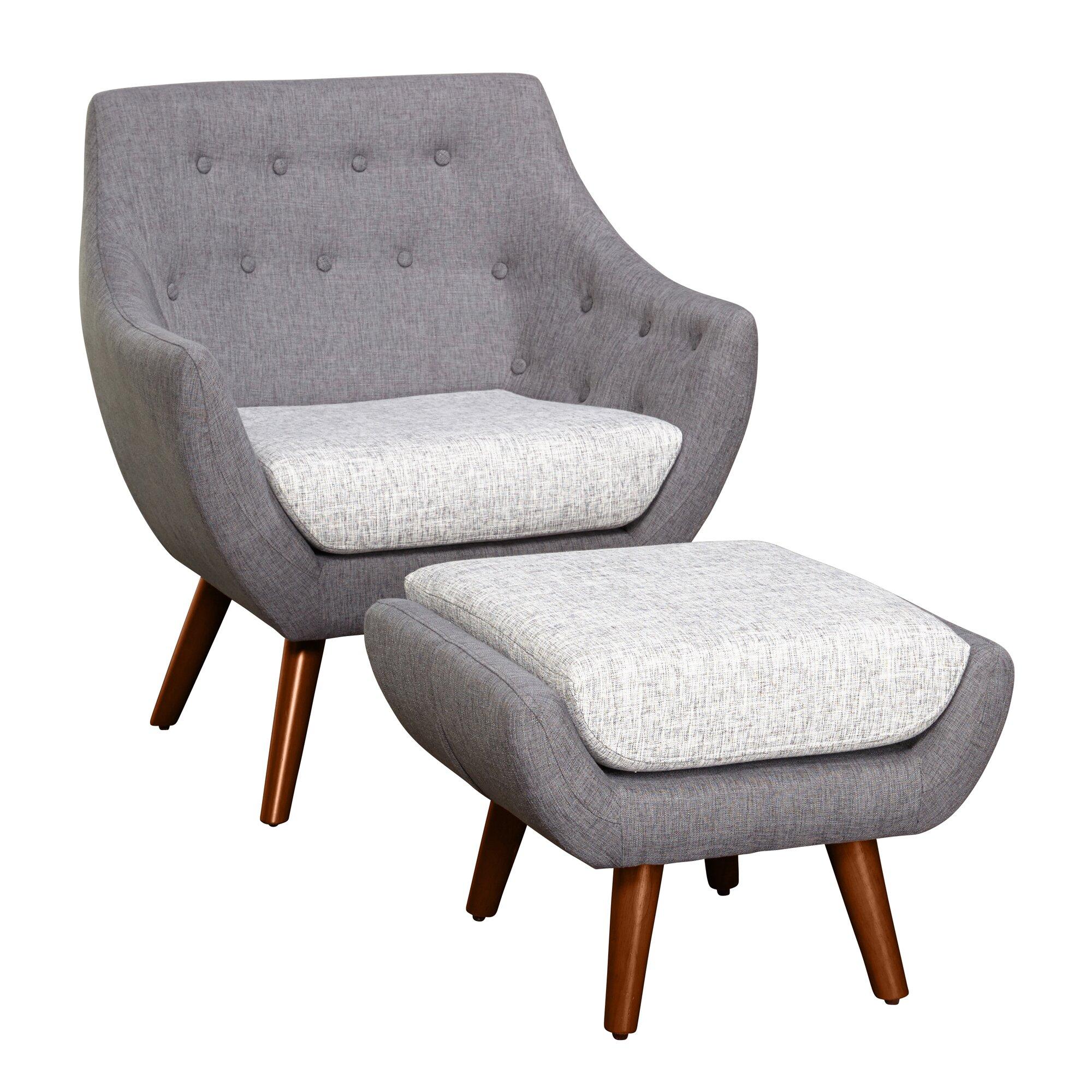 Langley Street Murfreesboro 2 Piece Arm Chair And Ottoman