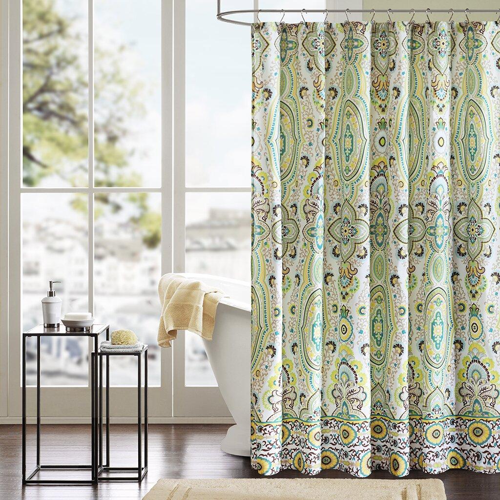 Intelligent Design Tasia Shower Curtain Amp Reviews Wayfair