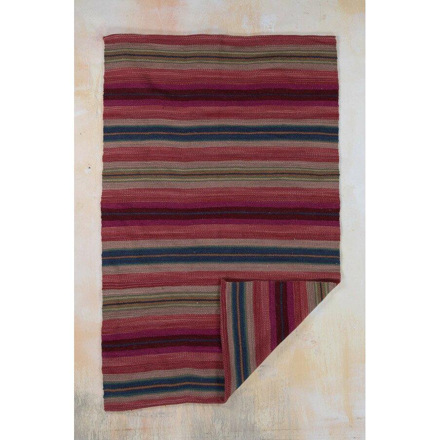 Handgewebter Teppich in Rot von Ian Snow  Wayfairde