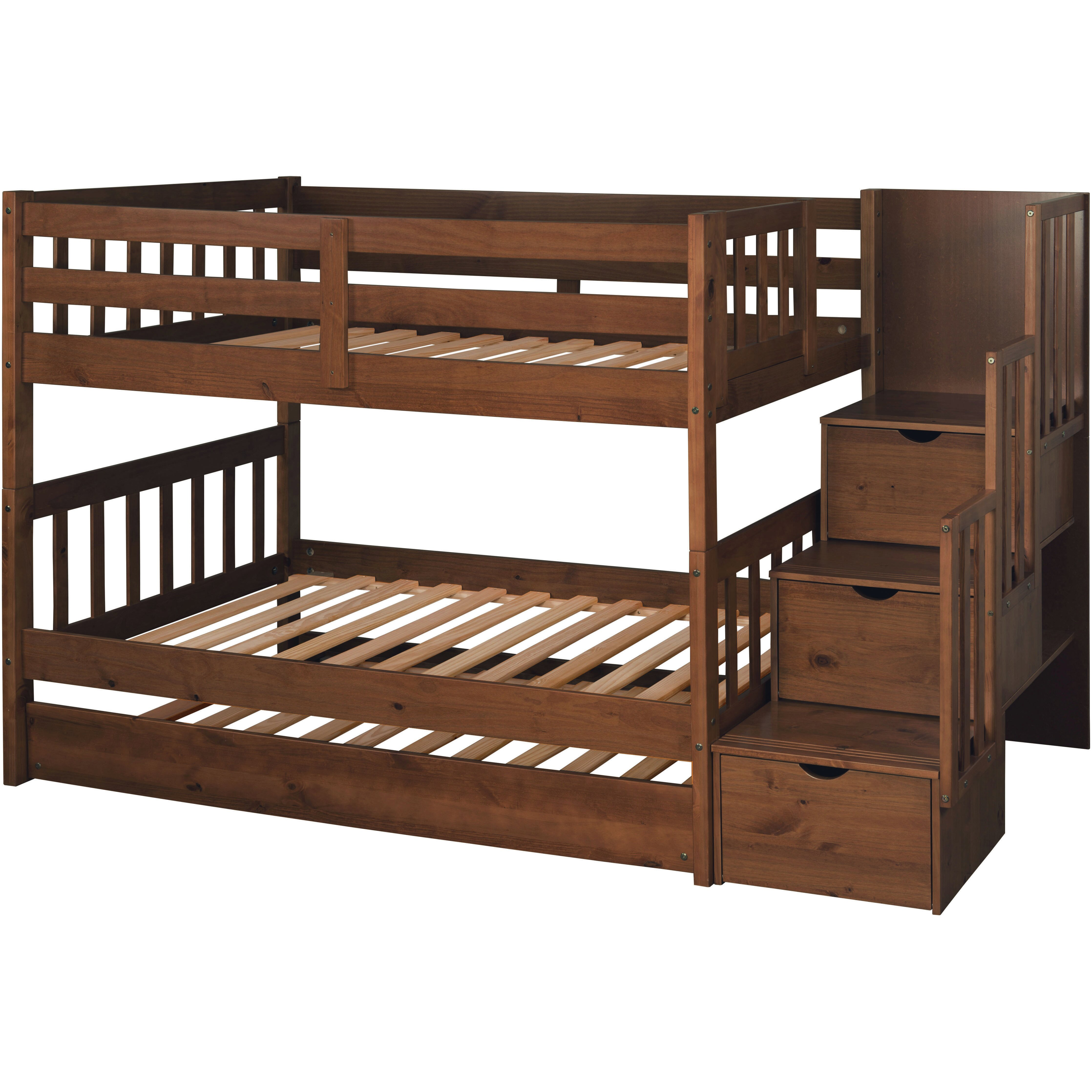 wyatt twin over full bunk bed with trundle wayfair. Black Bedroom Furniture Sets. Home Design Ideas