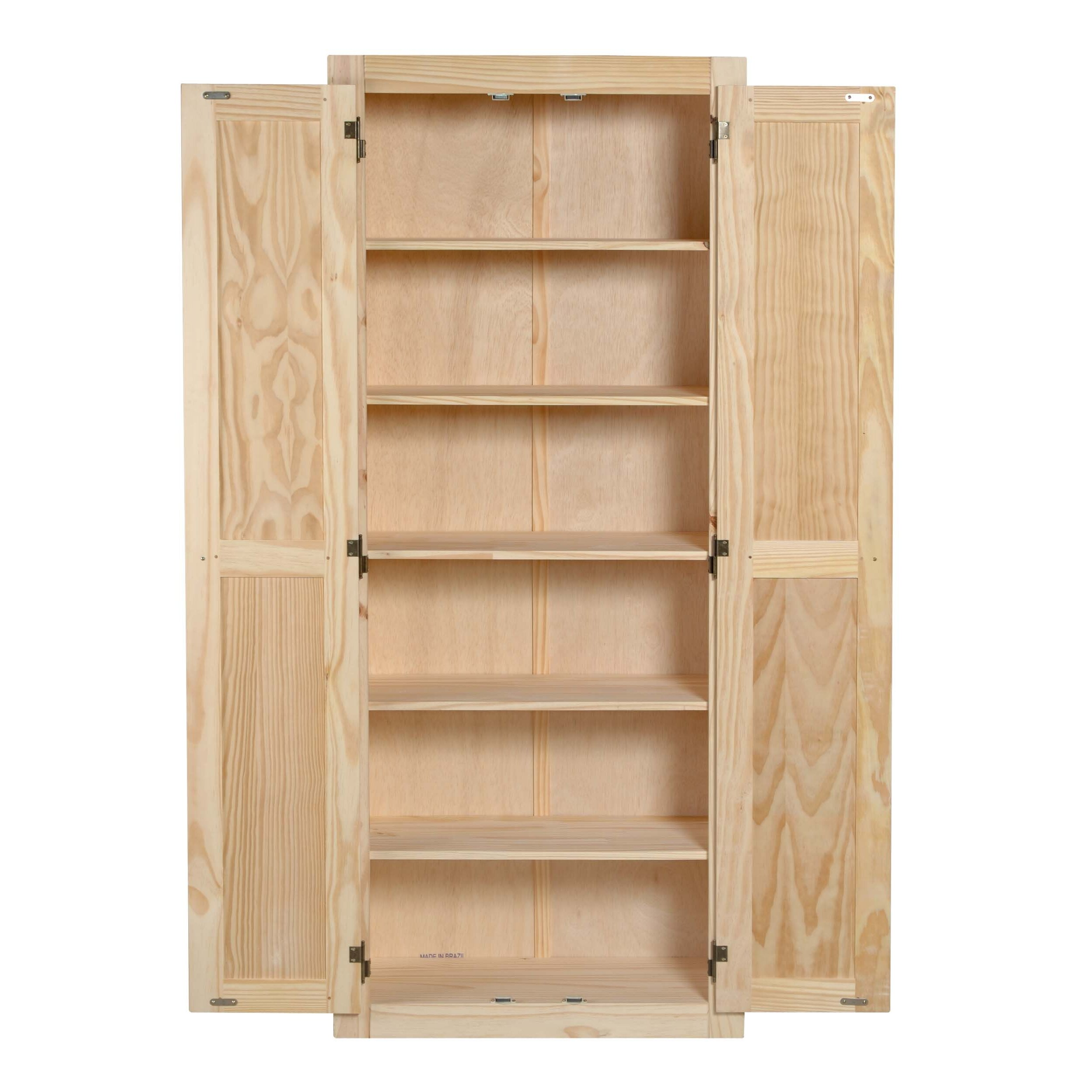 Pantry cabinet pine kitchen pantry cabinet with brilliant for Kitchen pantry cabinet