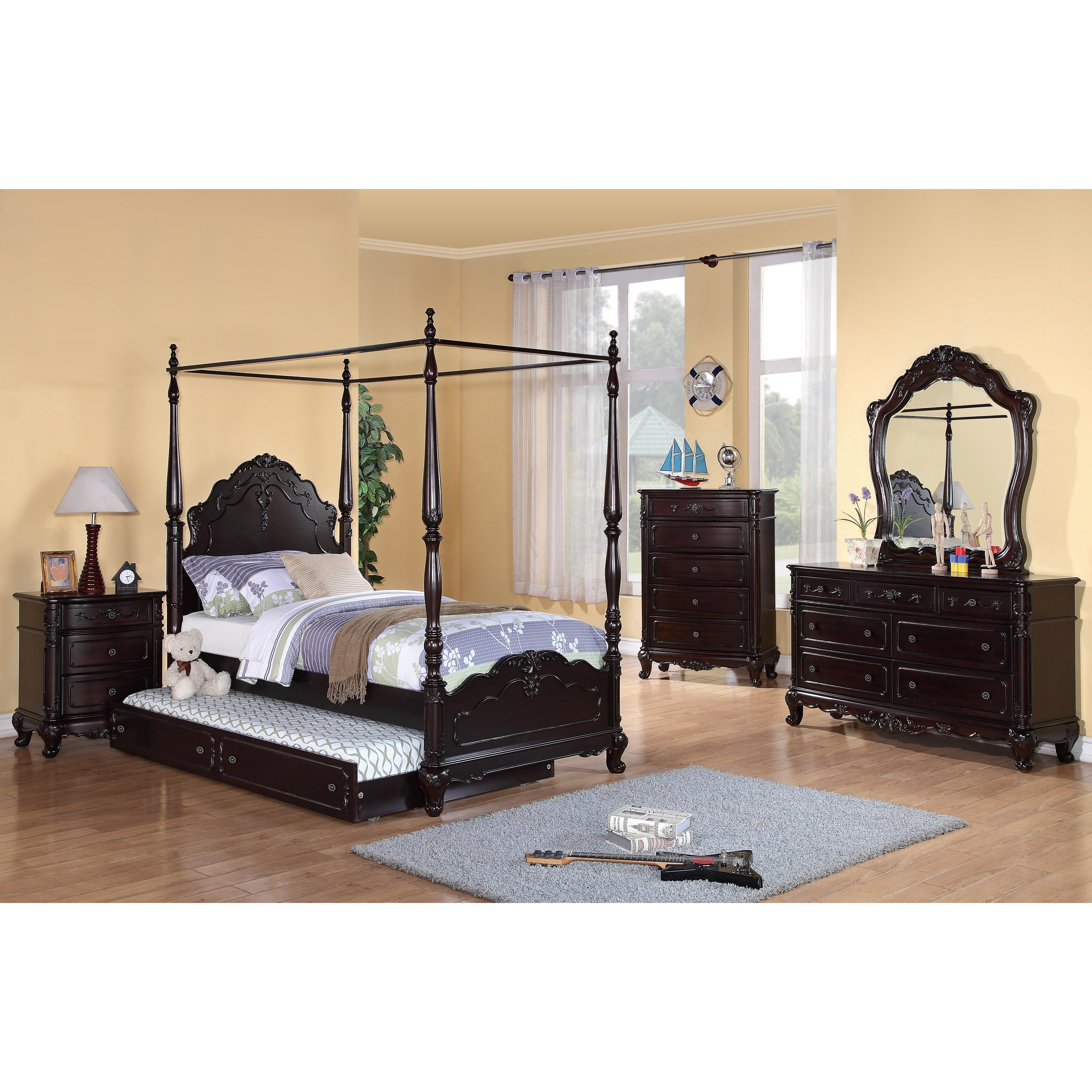 Woodhaven Hill Cinderella Canopy Bed & Reviews | Wayfair